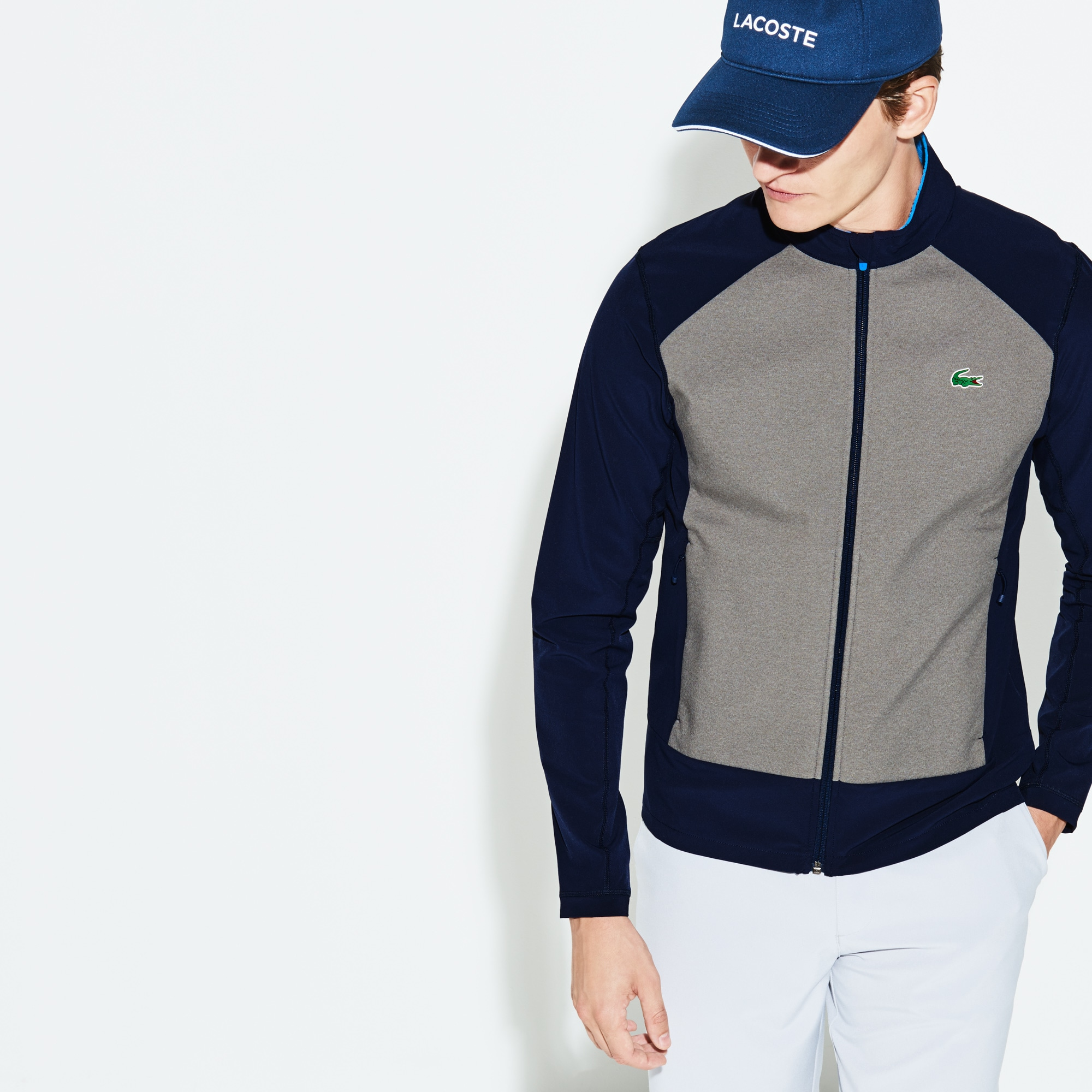 Men's Lacoste SPORT Water-Resistant Zip Golf Sweatshirt