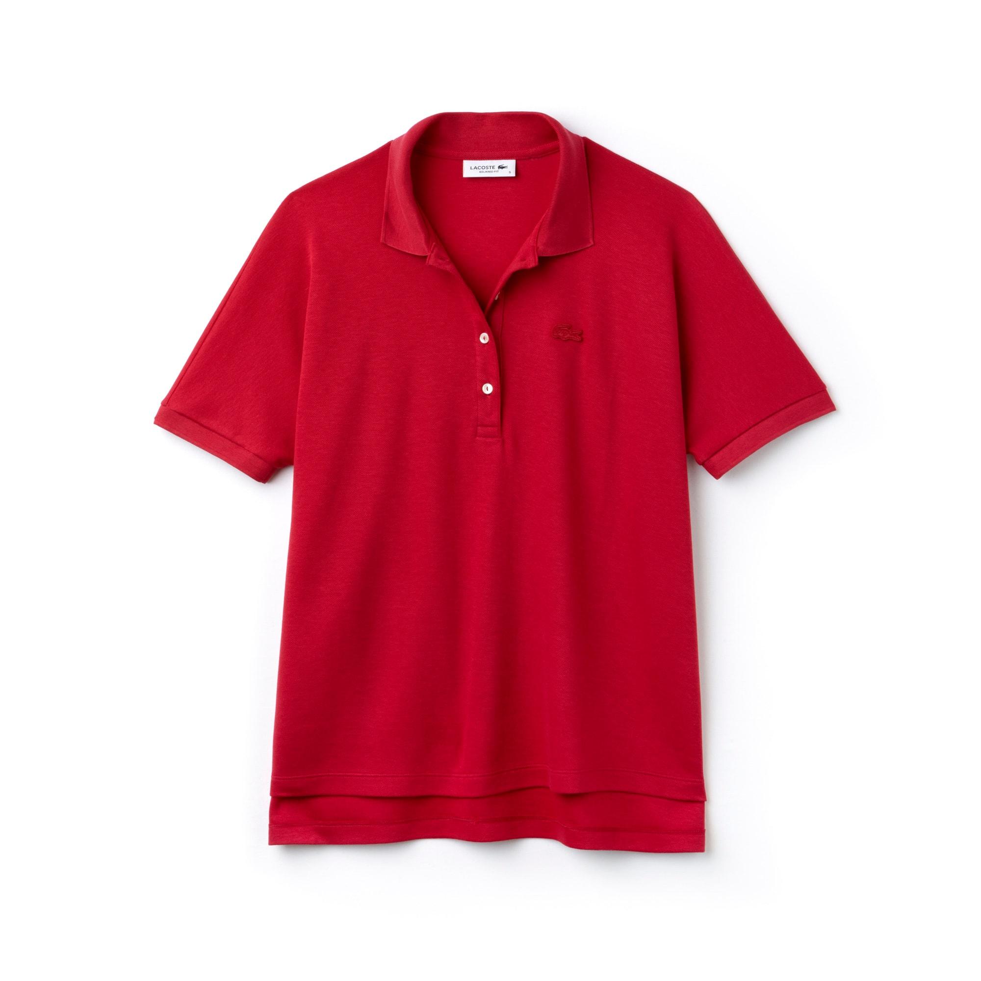 Women's Lacoste Relax Fit Flowing Stretch Cotton Piqué Soft Polo Shirt