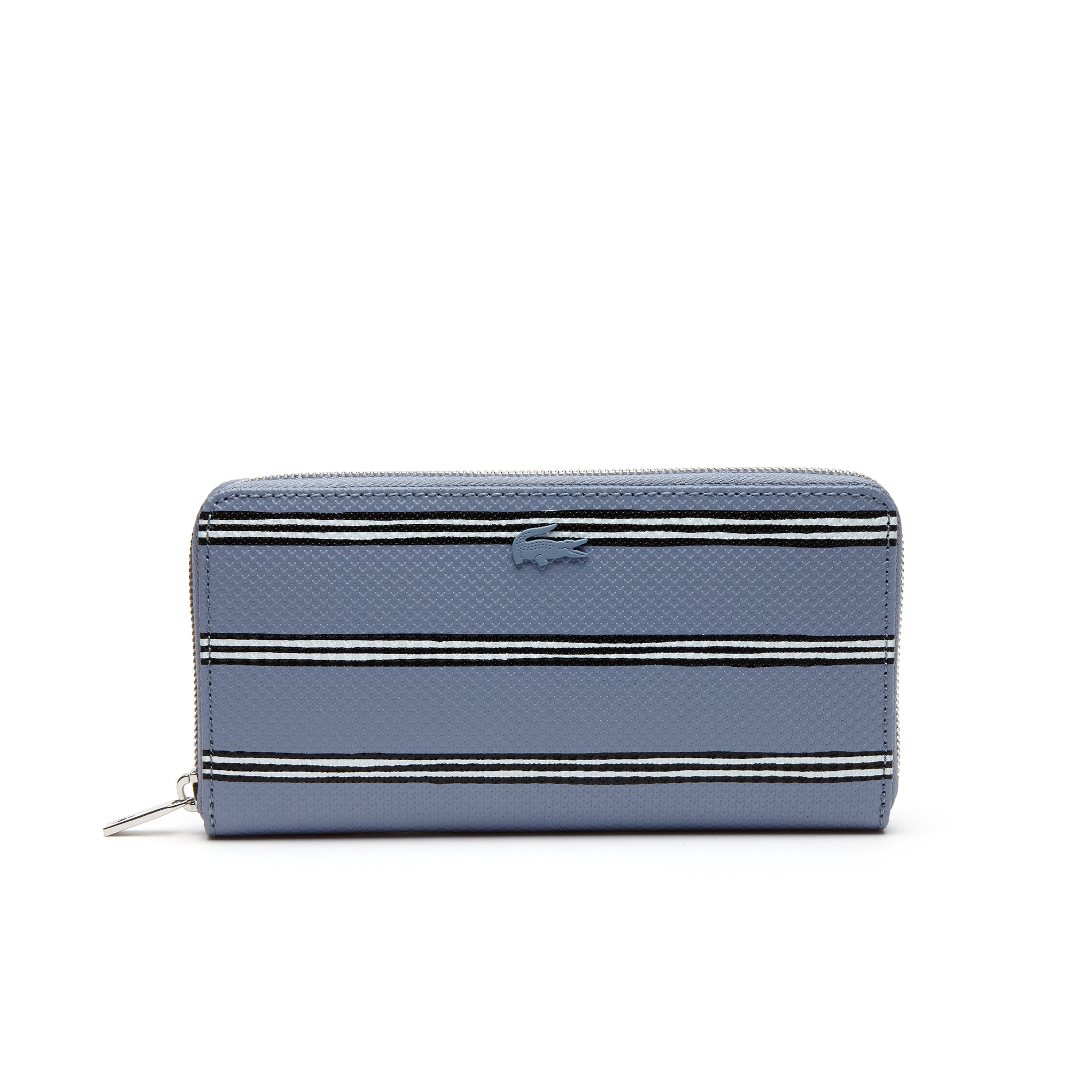 Women's Chantaco Striped Print Piqué Leather 12 Card Zip Wallet