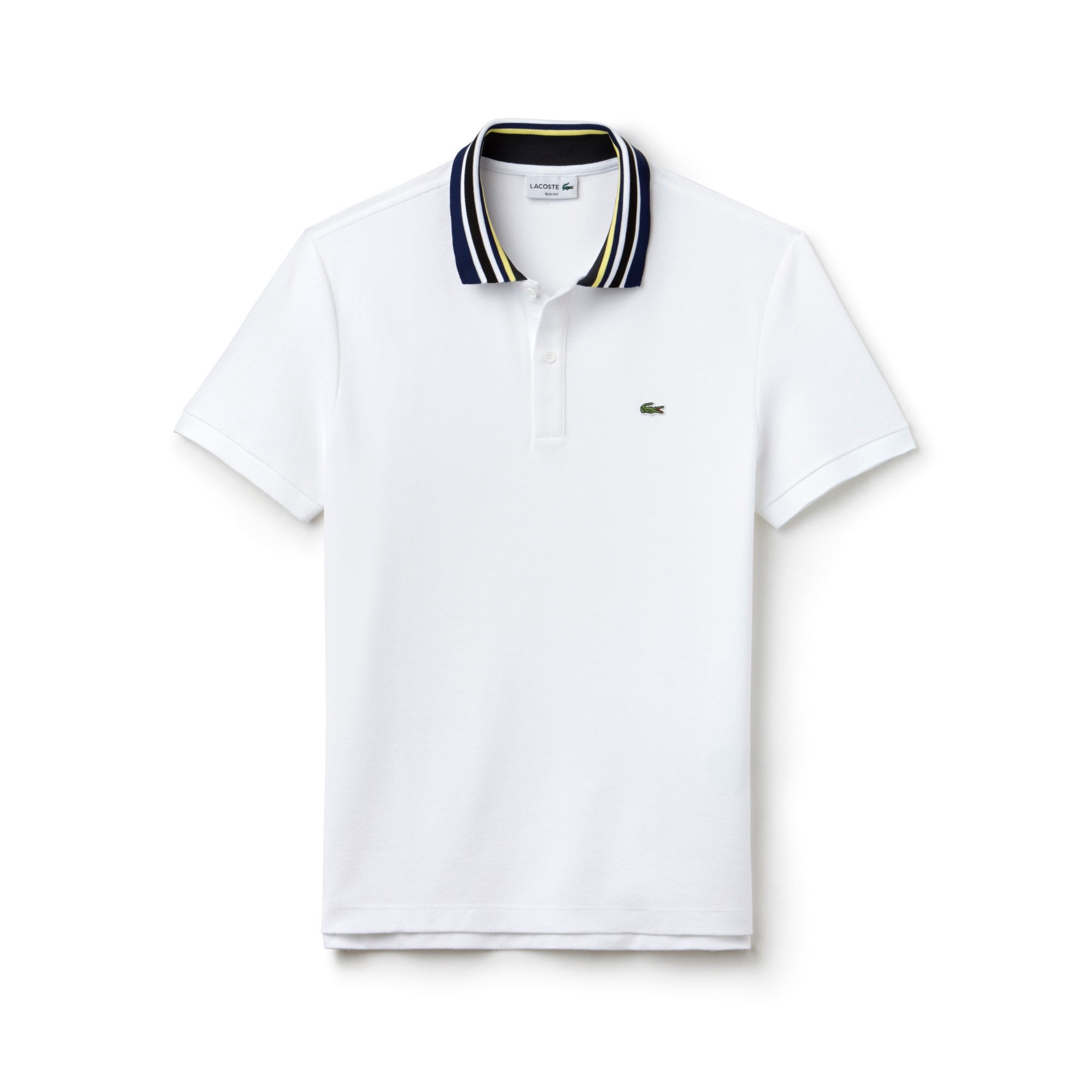 Men's Lacoste Slim Fit Cotton Piqué Polo With Piped Collar