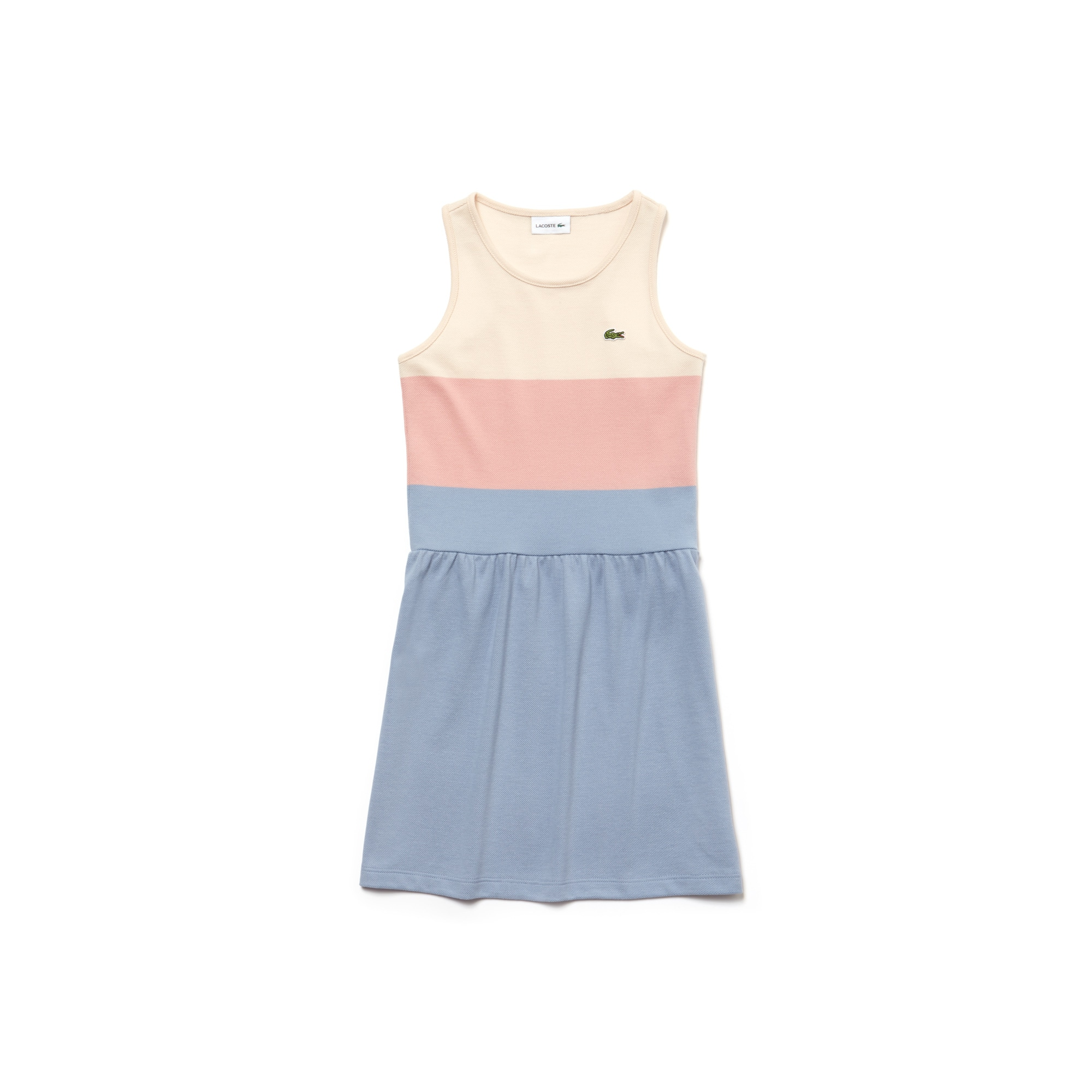 Girls' Colorblock Cotton Piqué Dress