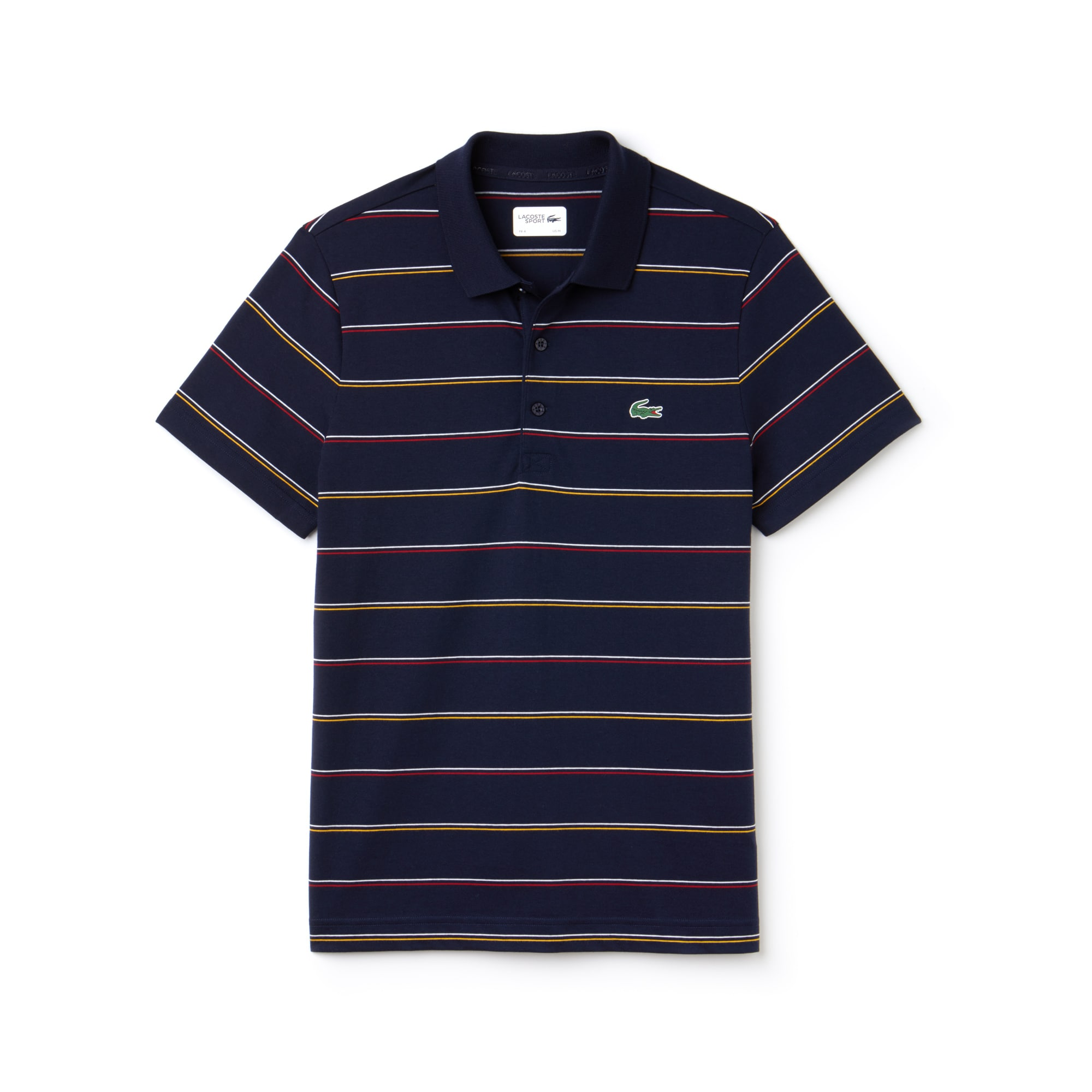 Men's Lacoste SPORT Striped Cotton Jersey Tennis Polo