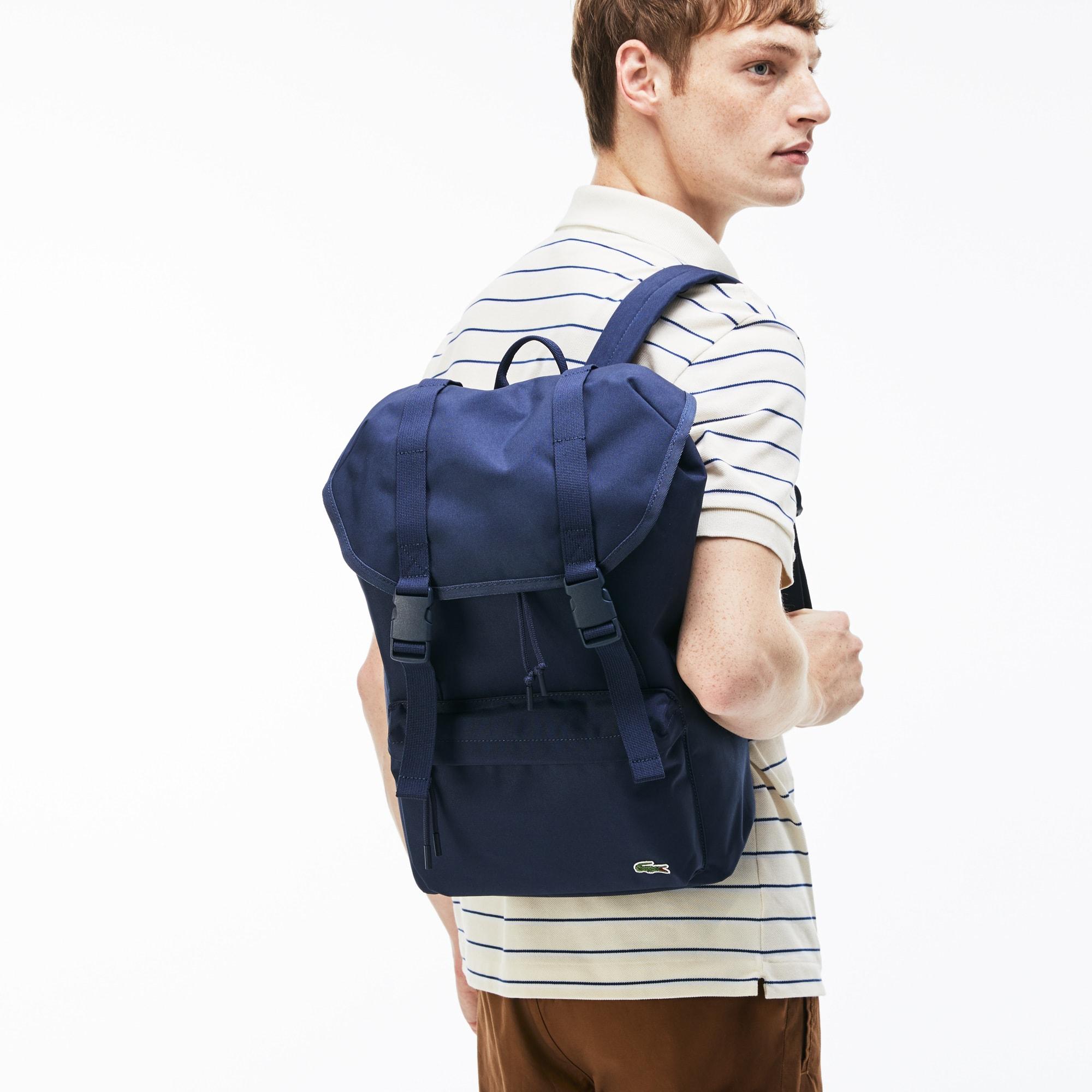 Men's Néocroc Monochrome Canvas Flap Backpack