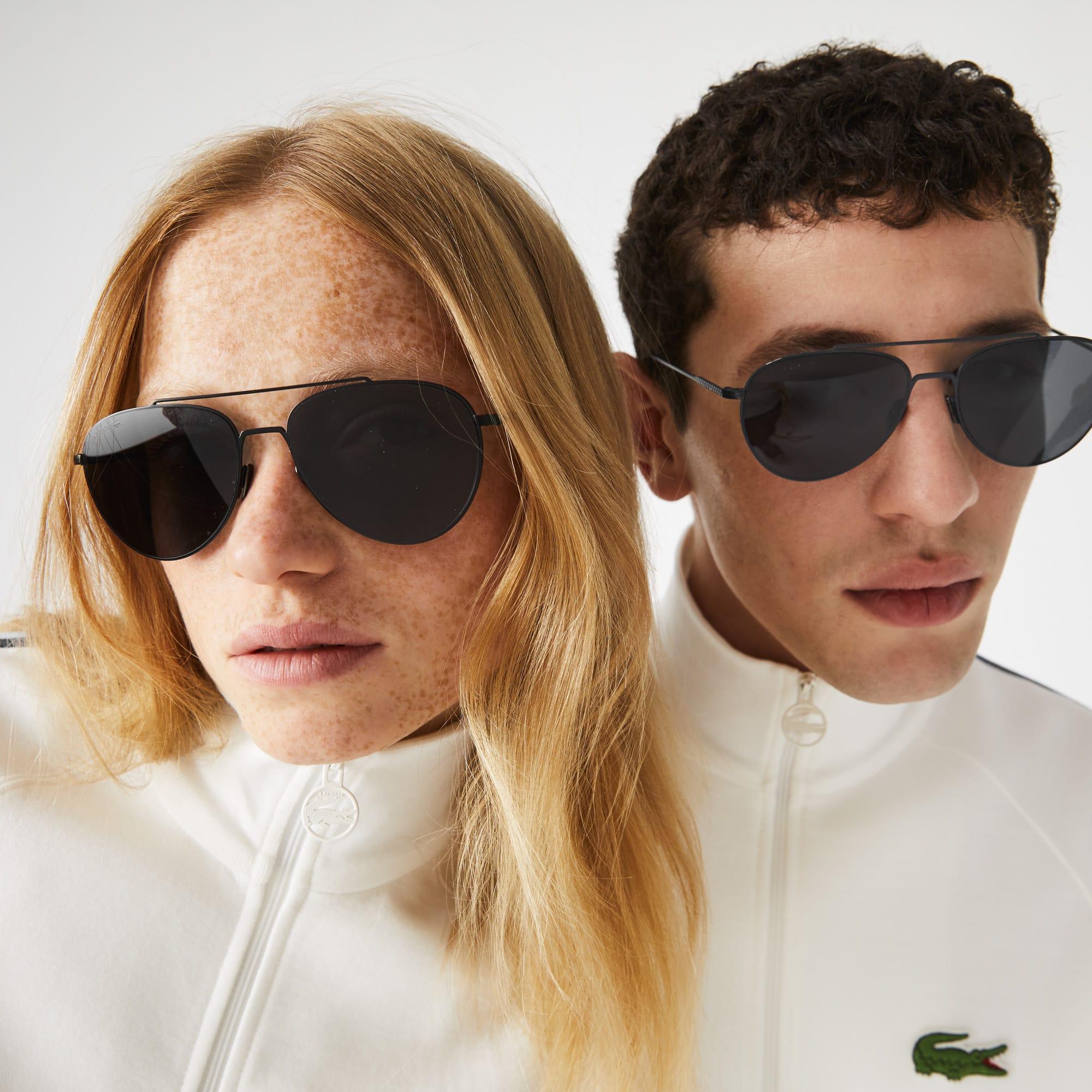 Unisex Petit Piqué Sunglasses with Metal Frames
