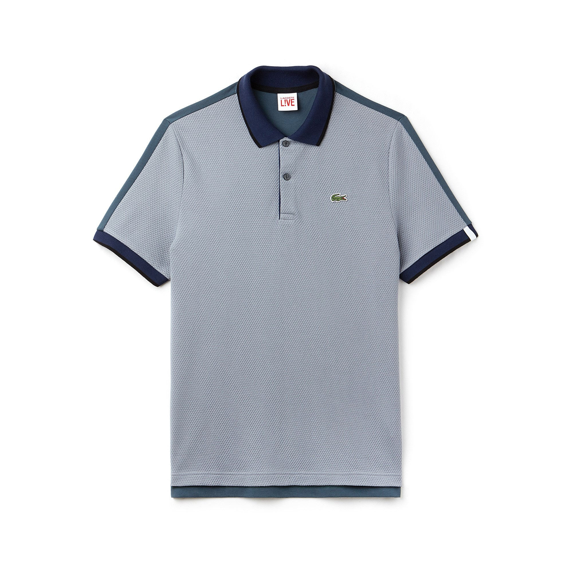 Men's Lacoste LIVE Slim Fit Colorblock Cotton Knit Polo Shirt