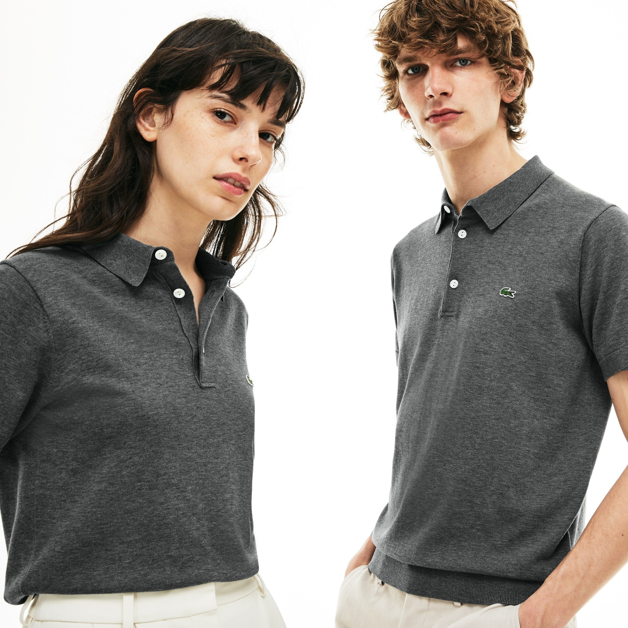 Unisex 1940s revival 85th Anniversary Limited Edition Flecked Jersey Polo
