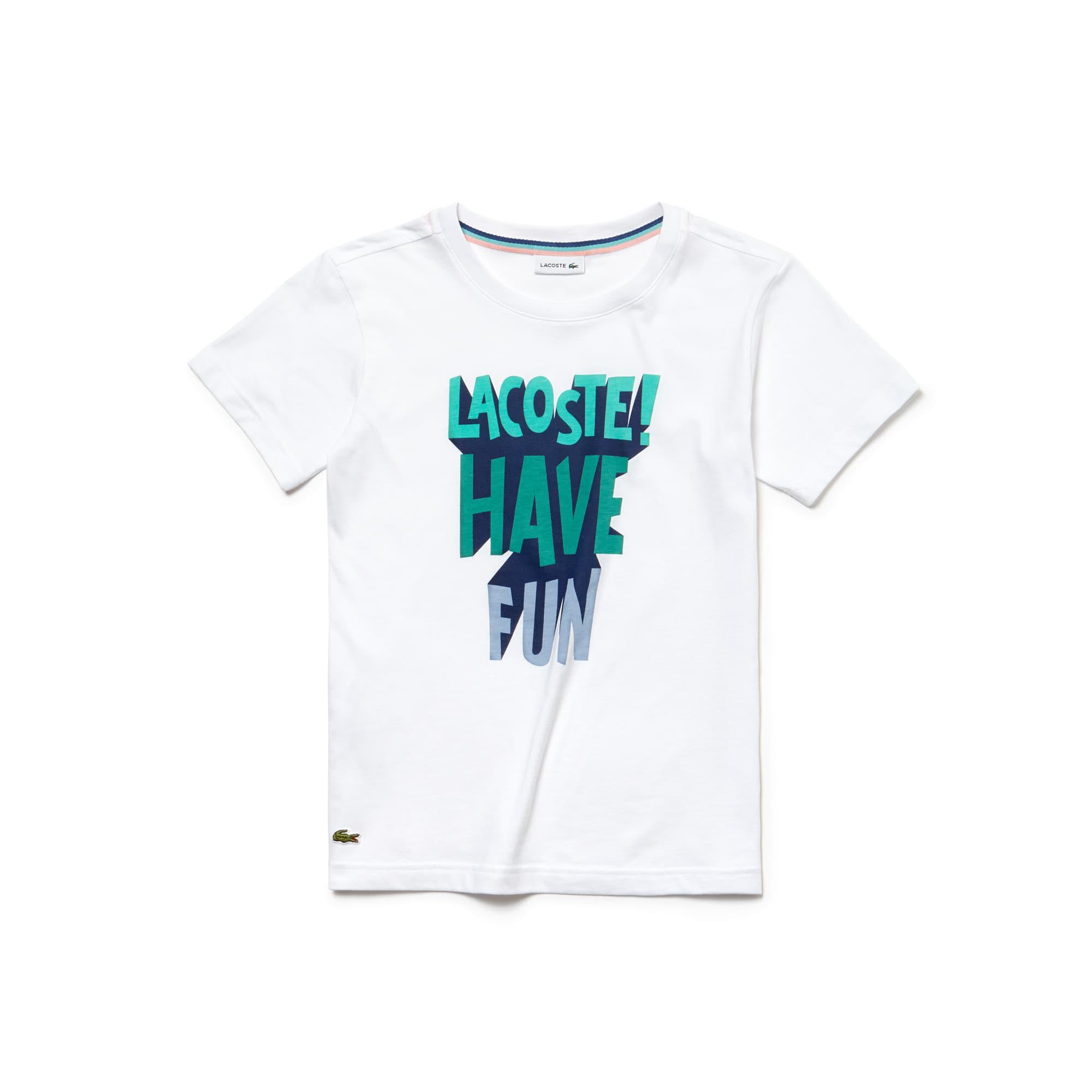 Boys' Crew Neck Lettering Jersey T-shirt