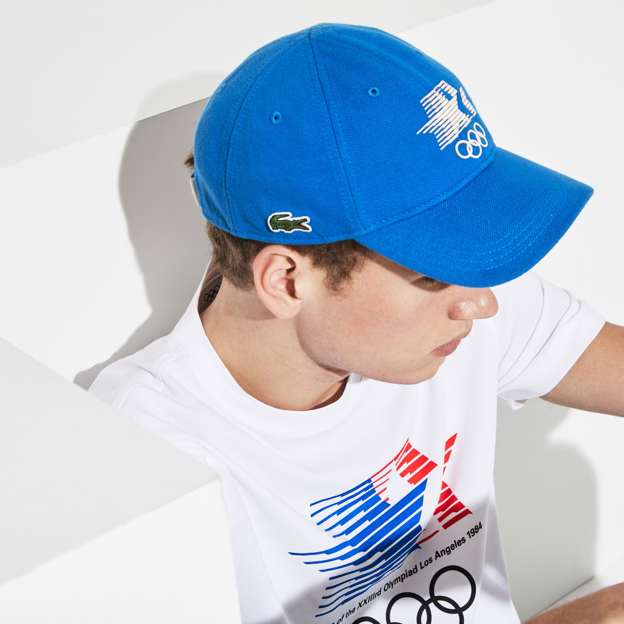 9979985227378c Men's Olympic Heritage Collection By Lacoste Logo Cotton Cap | LACOSTE