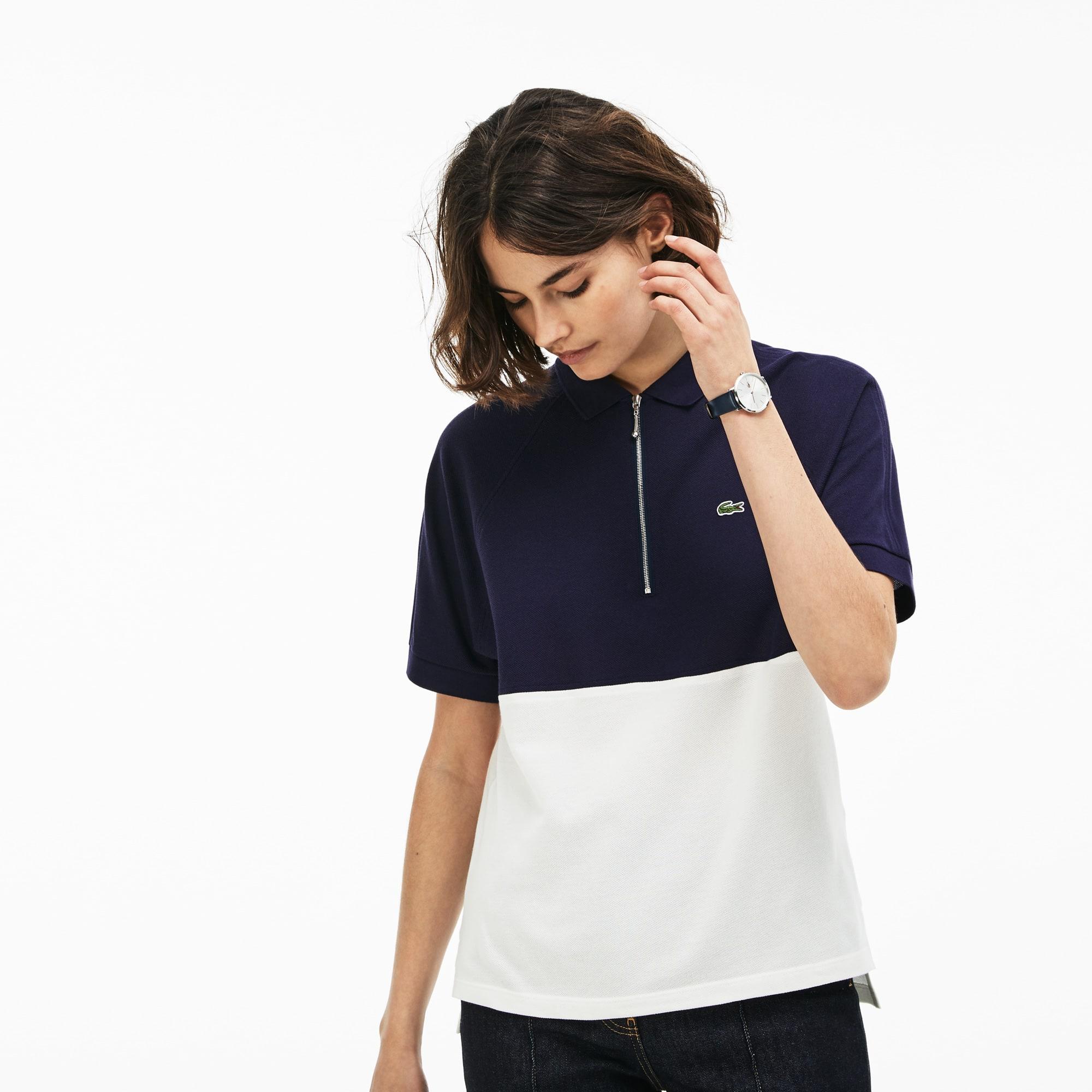 Women's Lacoste Slim Fit Colorblock Cotton Petit Piqué Polo Shirt