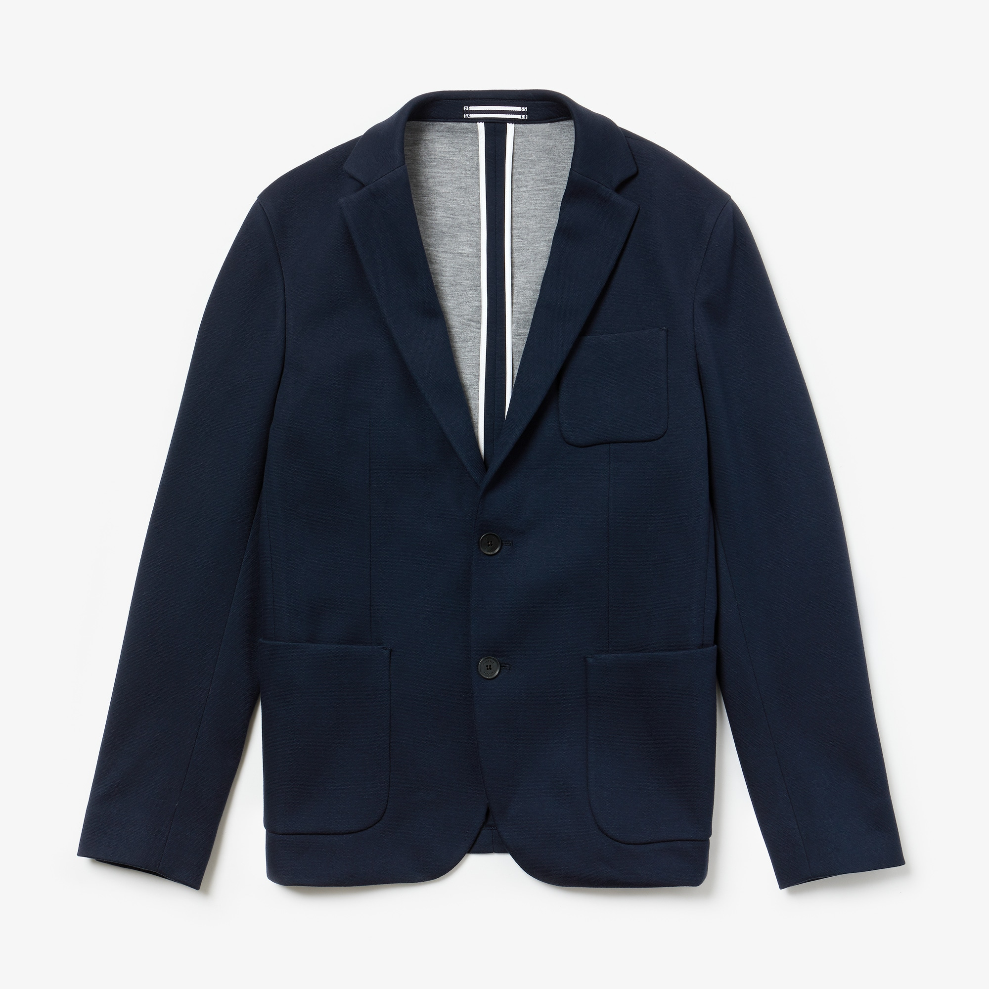 Men's Stretch Cotton Jersey Piqué Blazer