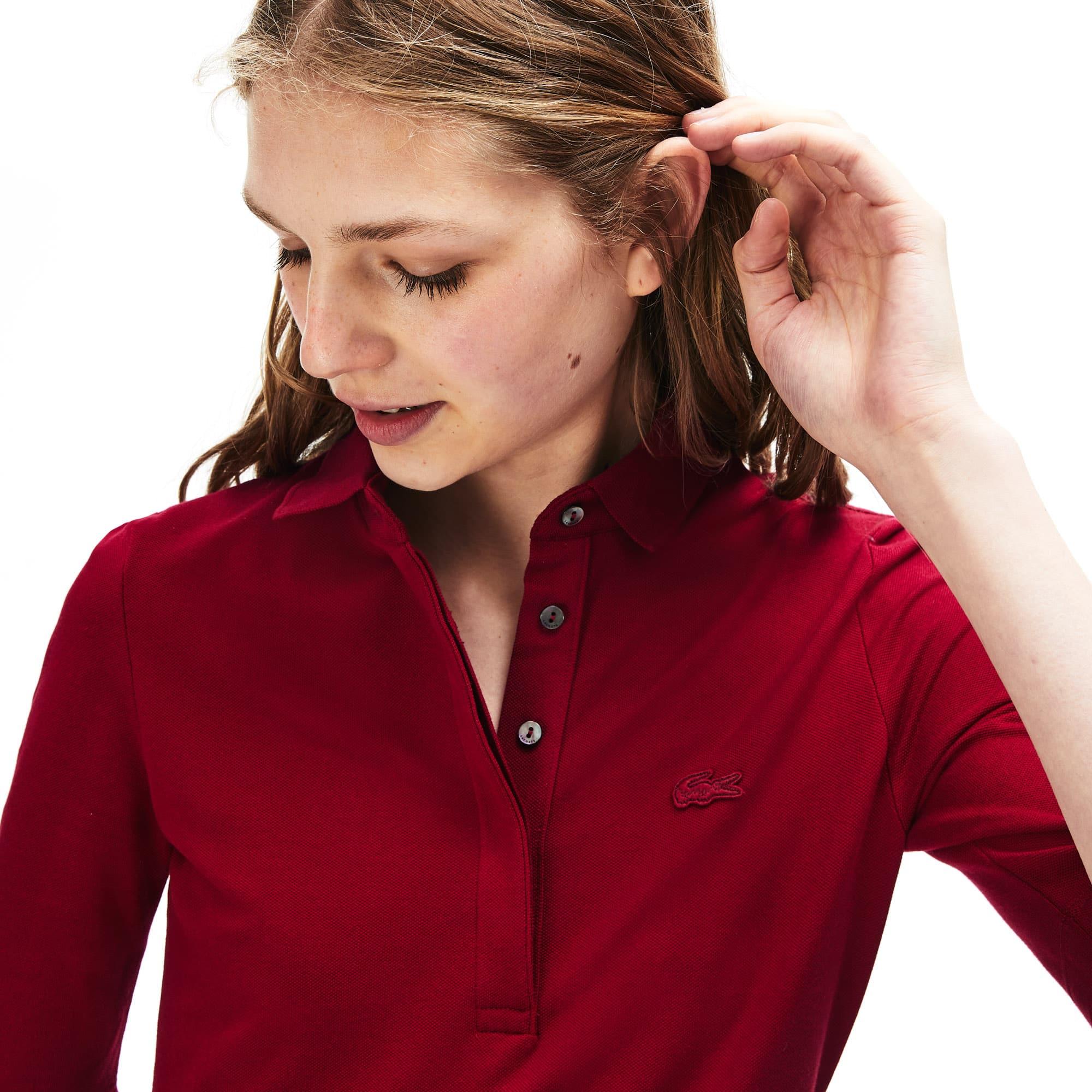 Women's Lacoste Slim Fit Stretch Mini Piqué Polo Shirt