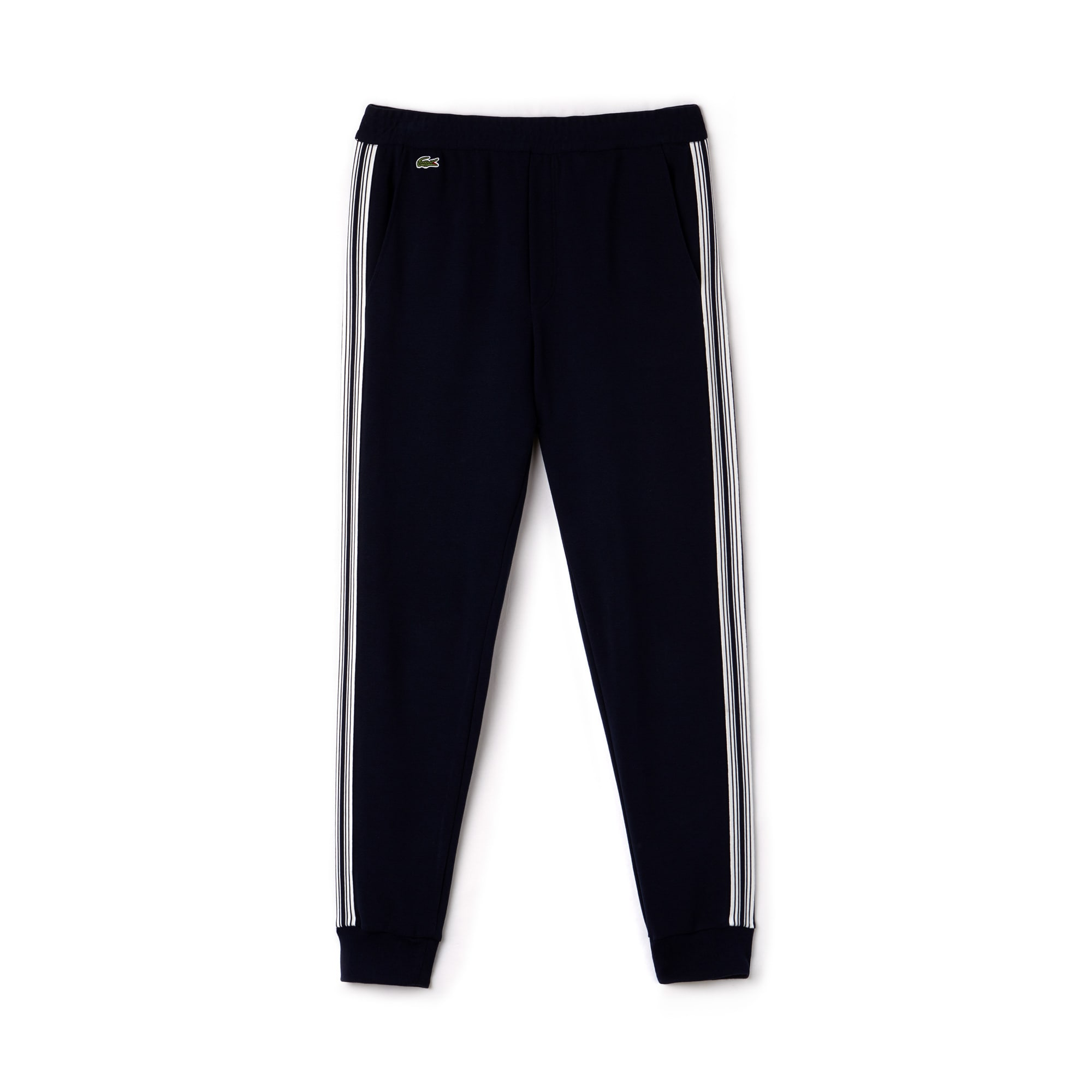 Men's Contrast Bands Milano Cotton Urban Jogging Pants