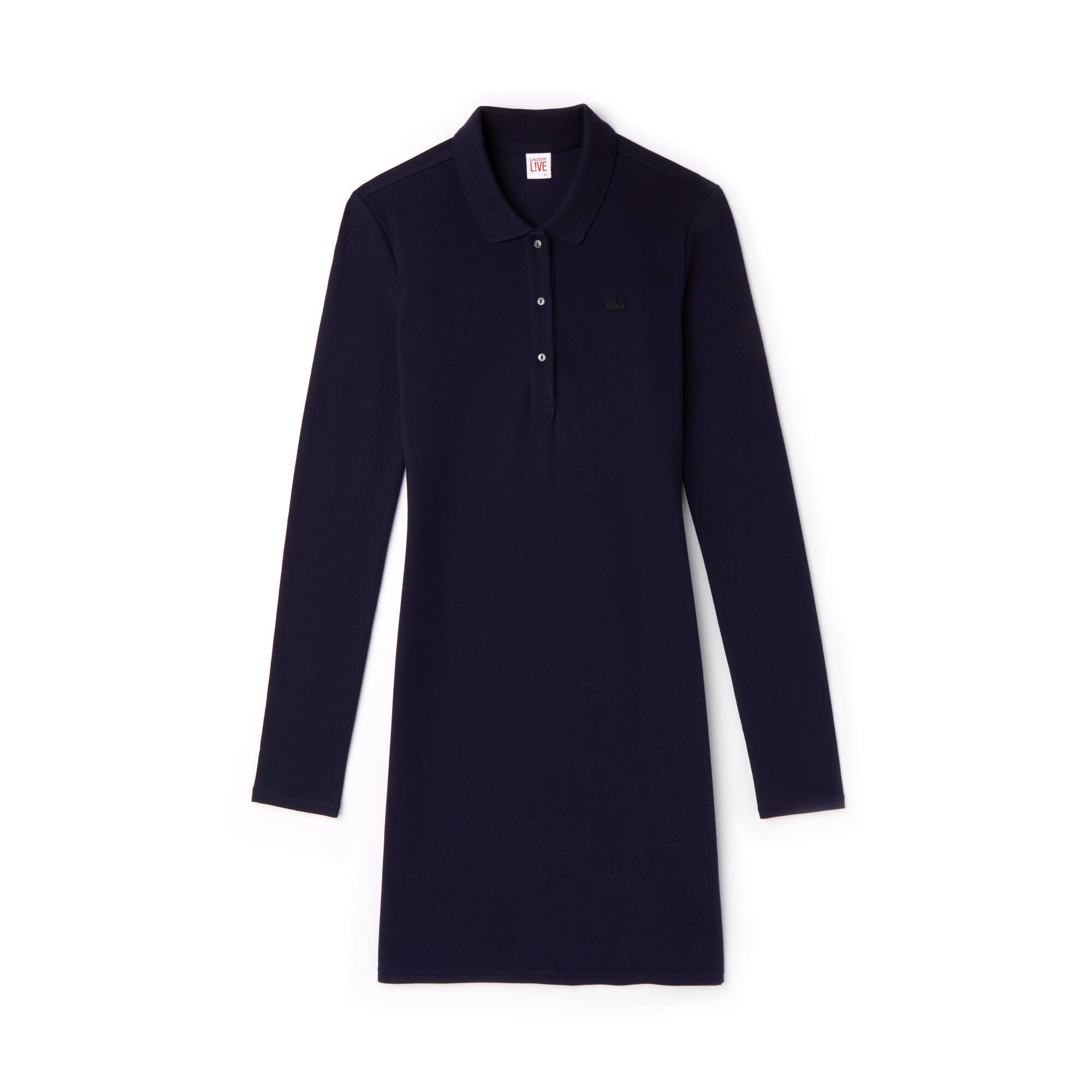 Women's Lacoste LIVE Slim Fit Stretch Piqué Polo Dress