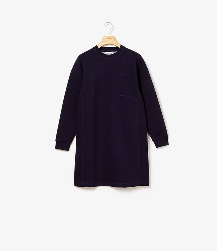 Wendbares Fleece und Jersey Kleid