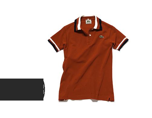 Grafische Details: das Poloshirt in Rot