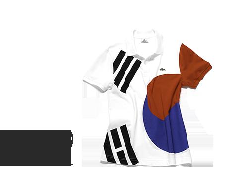 Das Poloshirt mit der Flagge