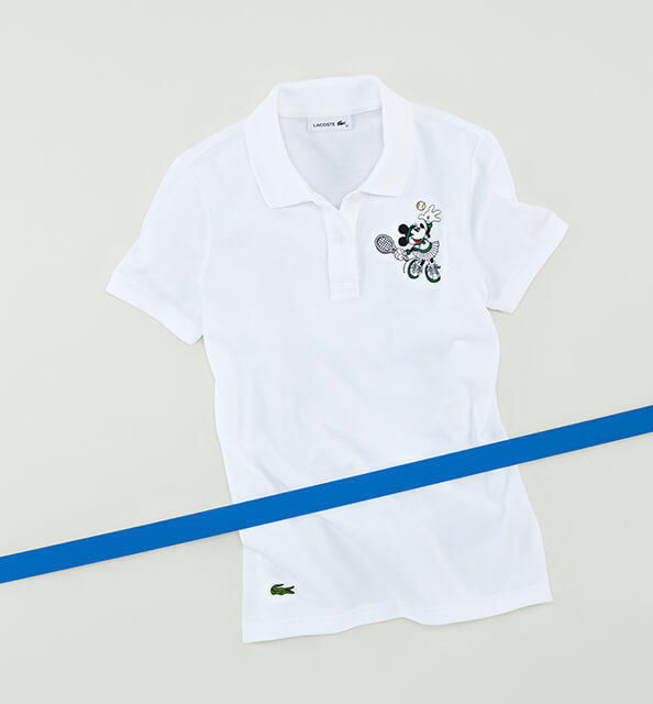 A winning serve on a women's cotton piqué polo.
