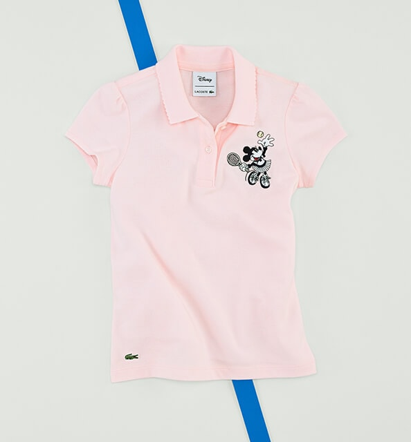 Advantage: junior pink polo in cotton piqué.