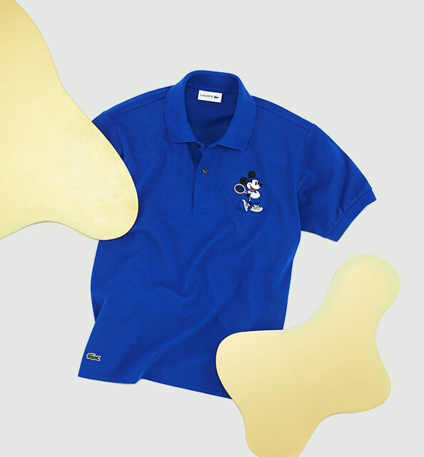 Cotton piqué polo + embroidered Mickey =  smash hit!