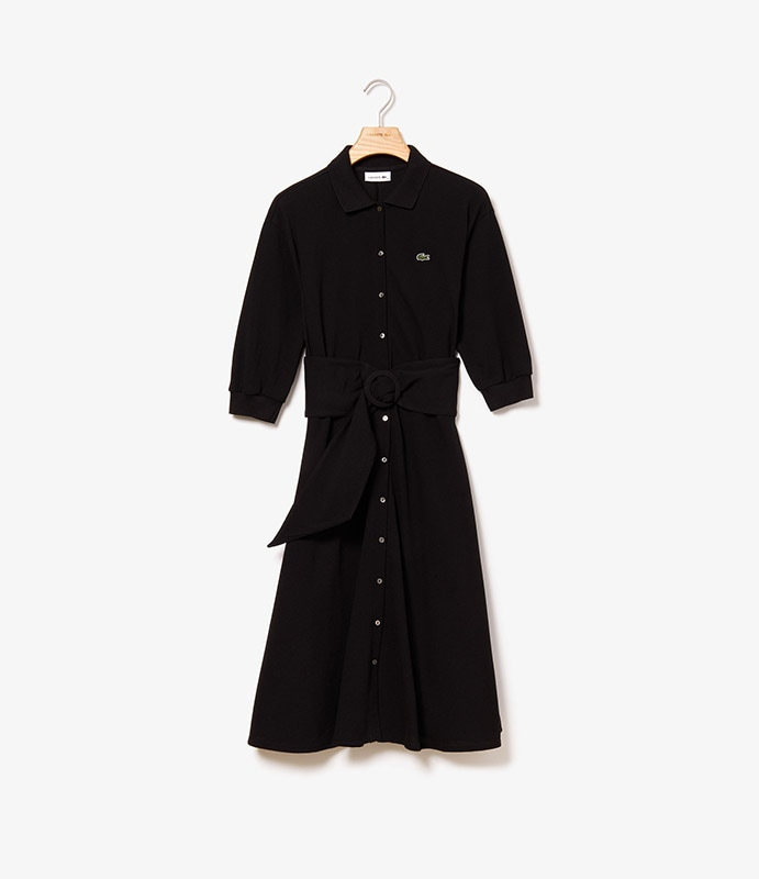 Robe polo en Petit Piqué souple avec ceinture détachable