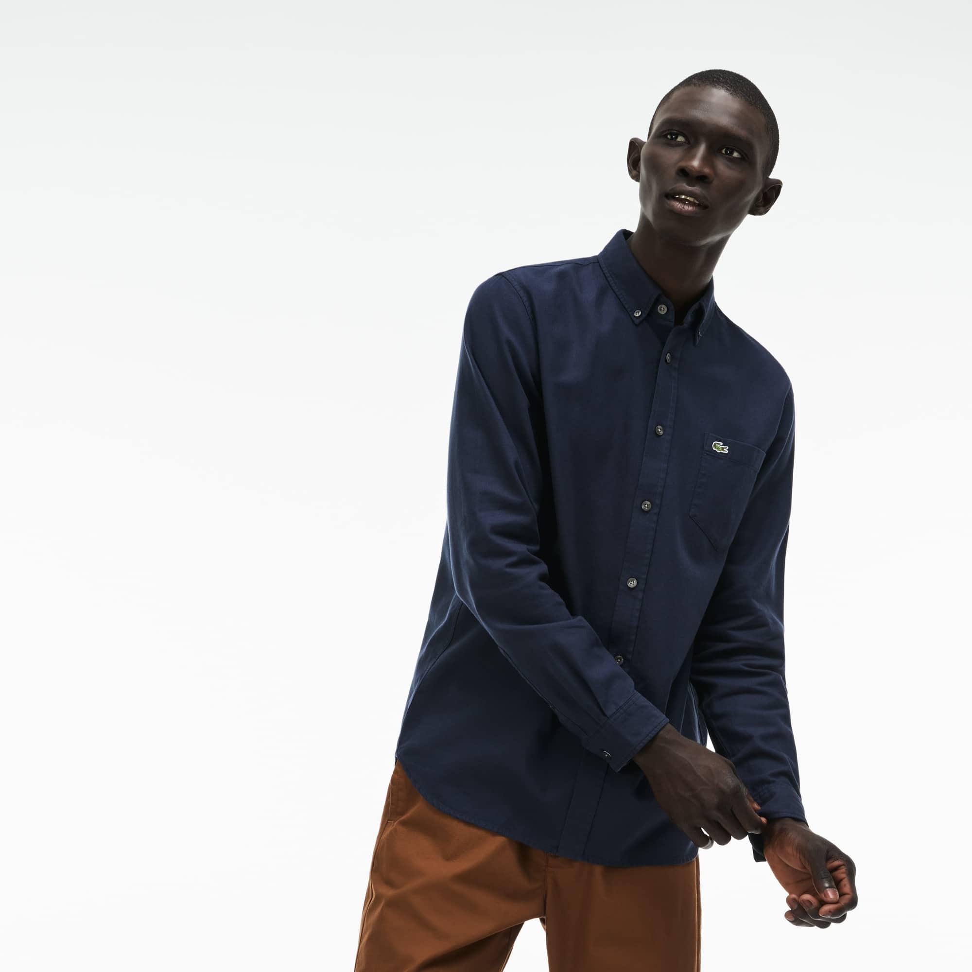 Regular Fit Herren-Hemd aus Baumwoll-Piqué