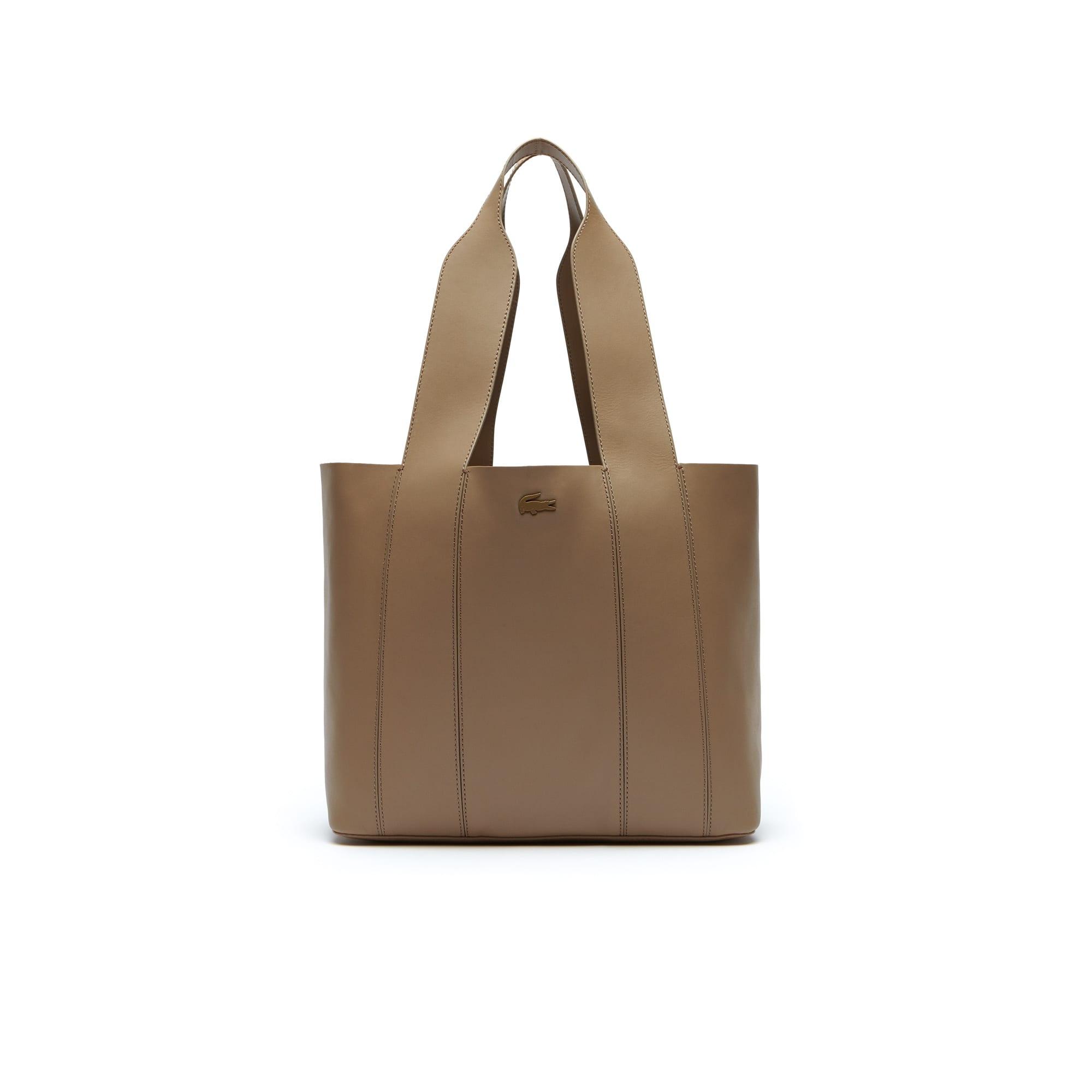 Einfarbige Damen-Leder Tote Bag Purity Soft