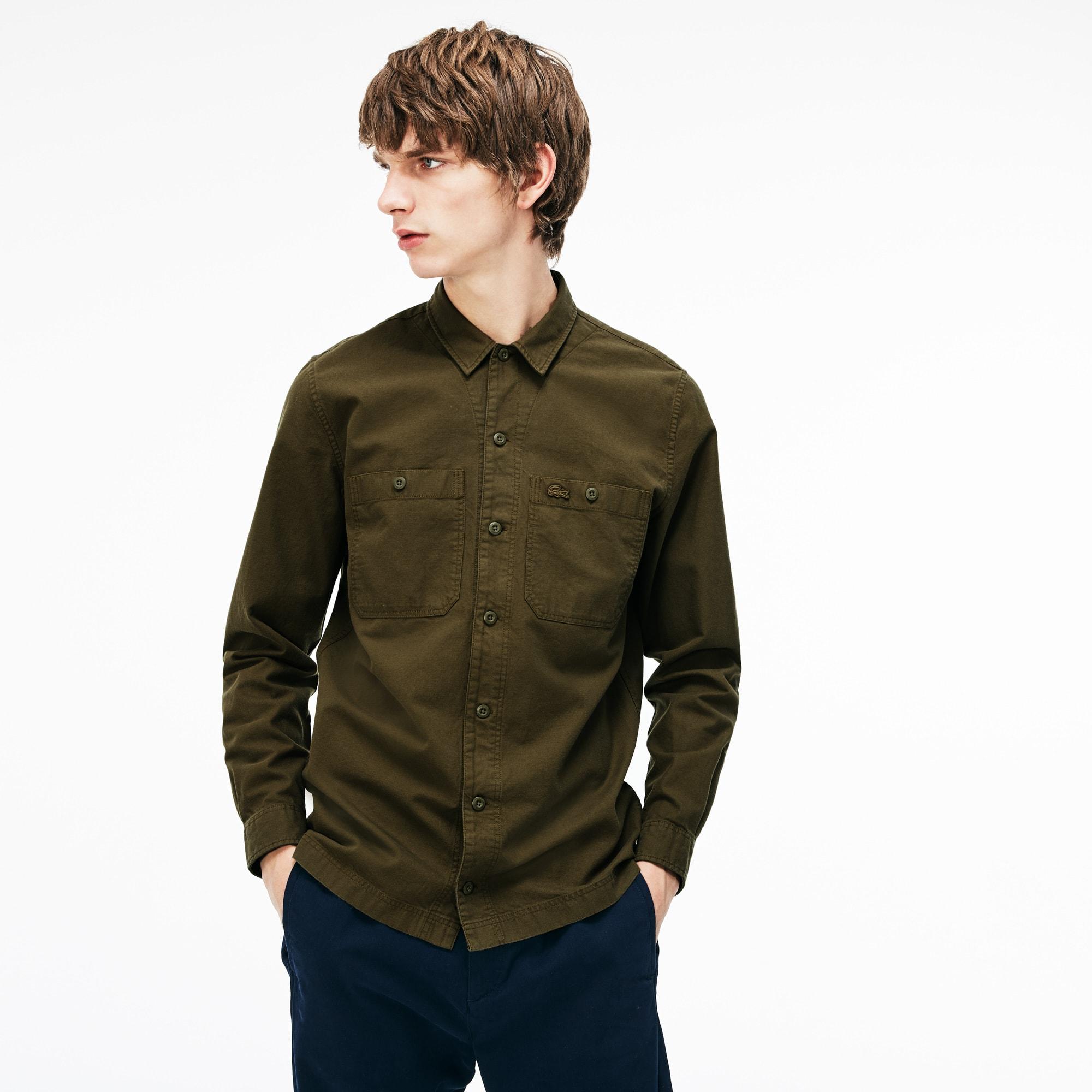 Herren Regular Fit Hemd aus leichtem Baumwollflanell