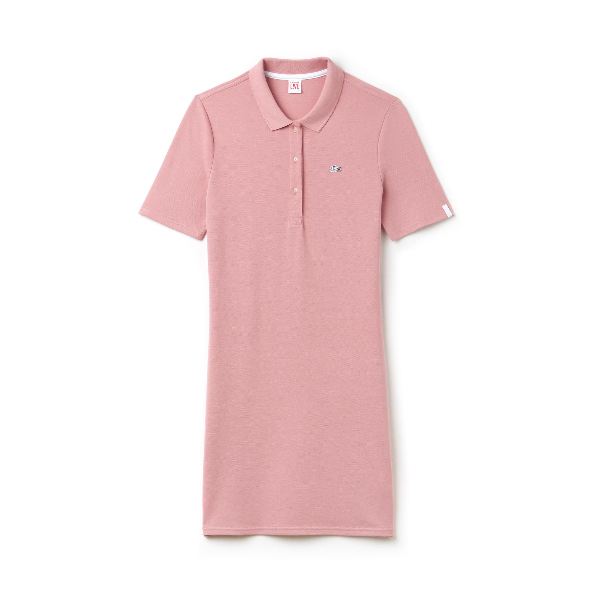 Damen-Polo-Kleid aus Petit Piqué mit Stretch LACOSTE L!VE