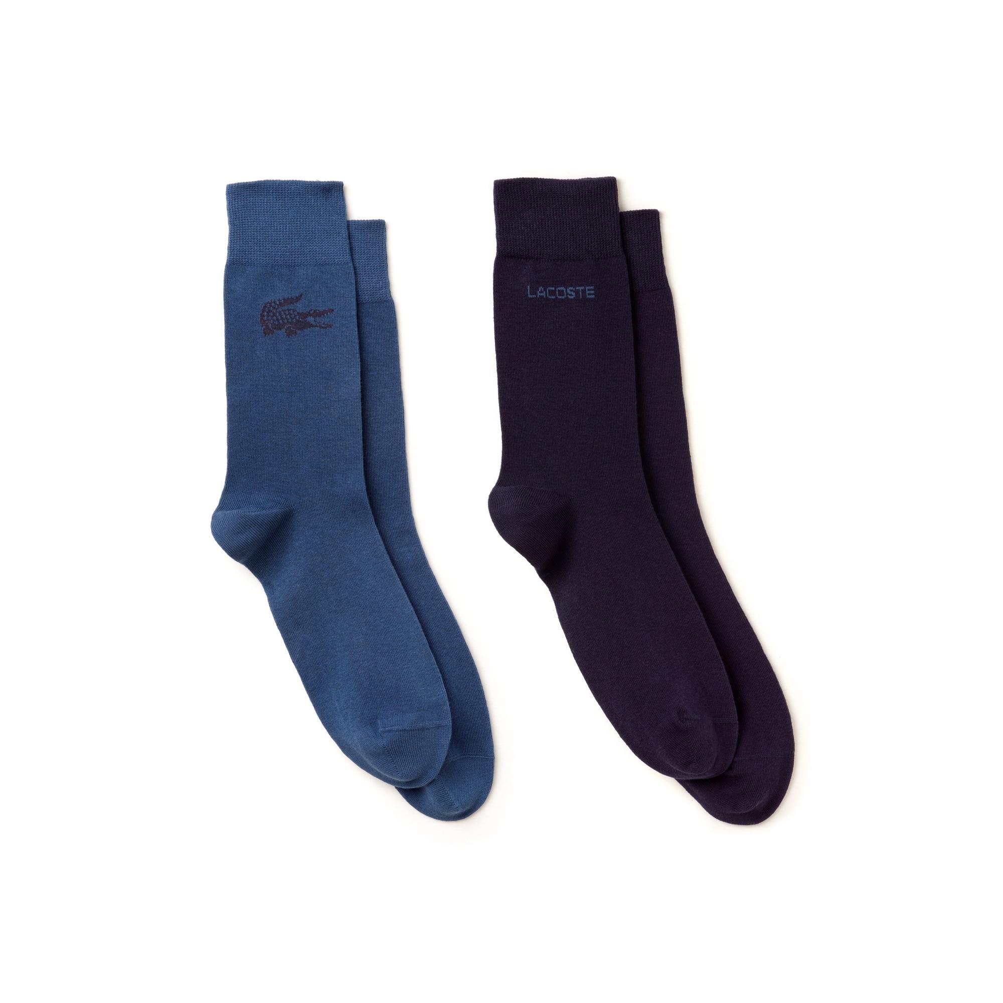 Zweierpack abgestimmte Socken aus bedrucktem Jersey