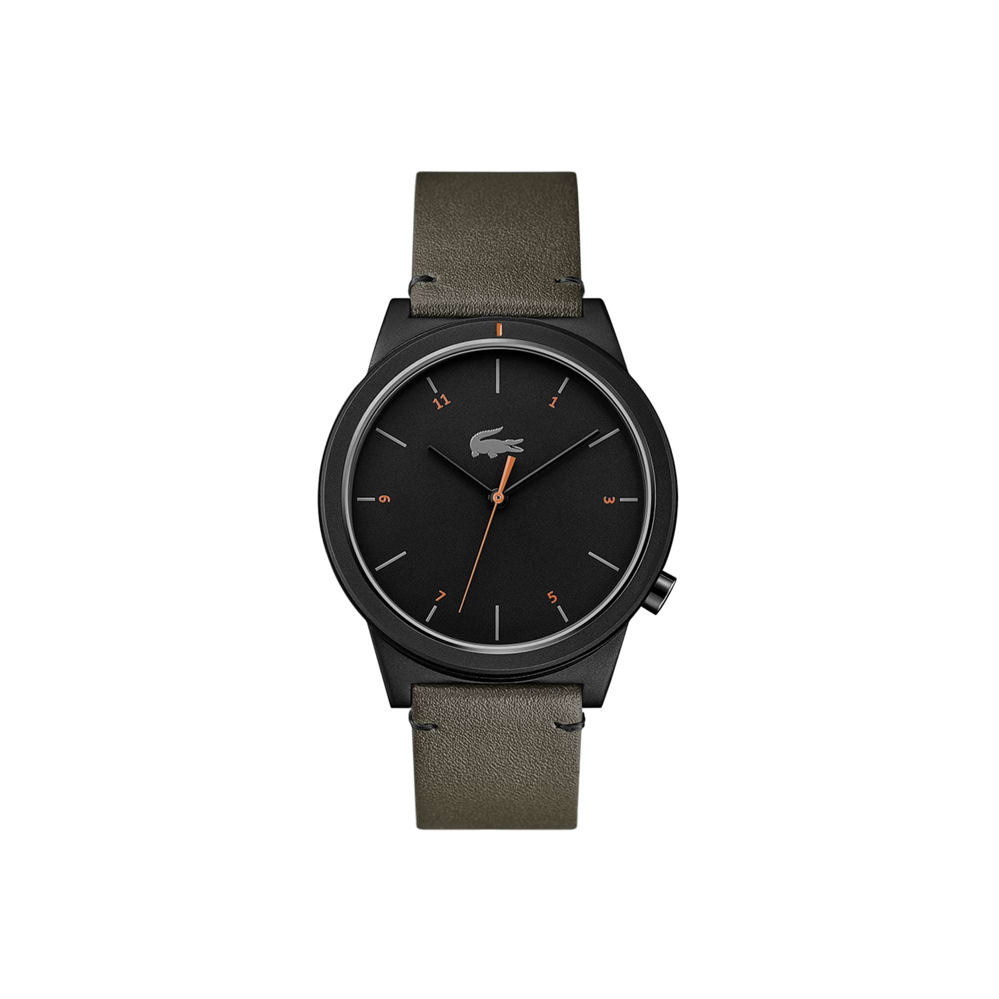 Motion Herrenuhr mit khaki Lederband