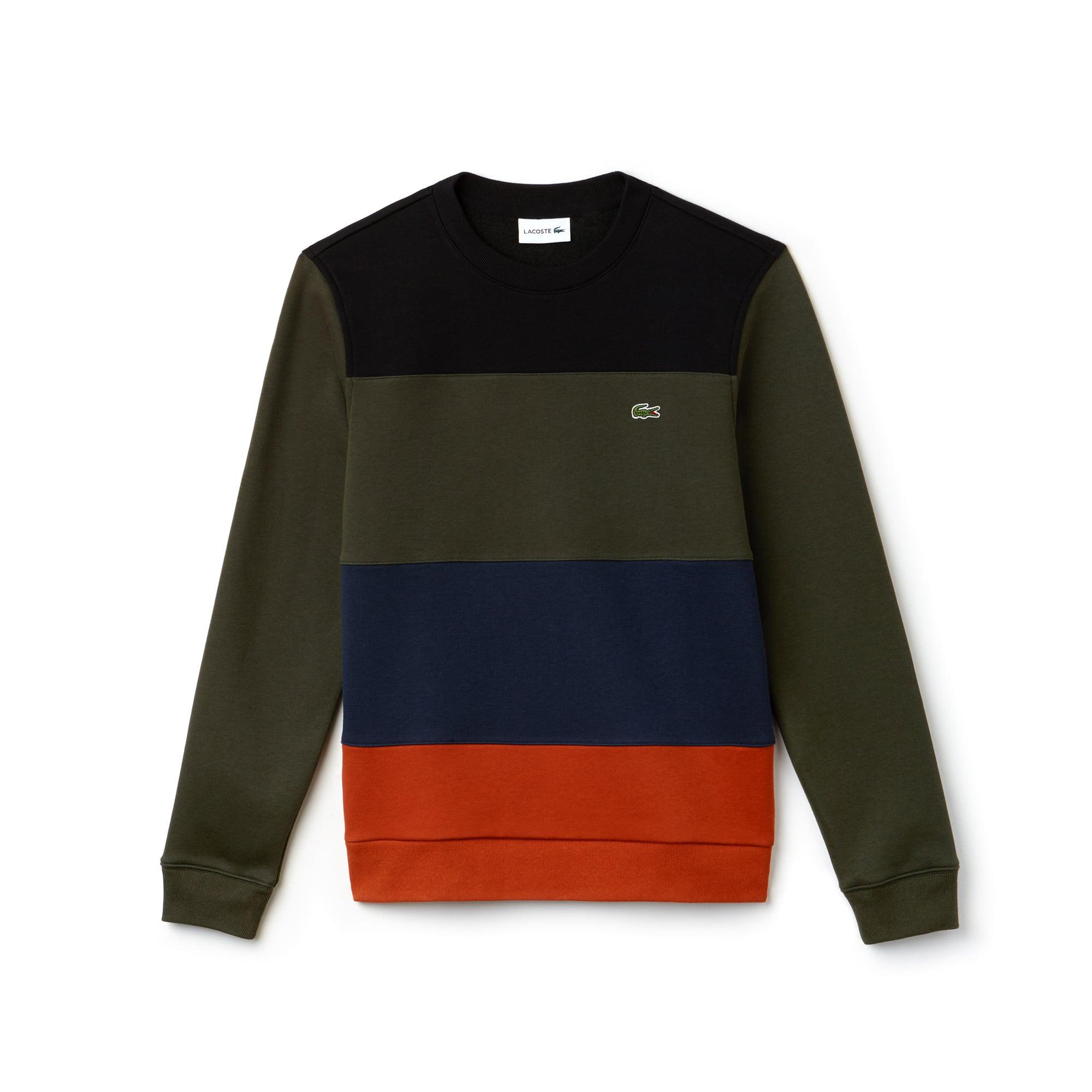 Herren Sweatshirt aus Fleece im Colorblock-Design