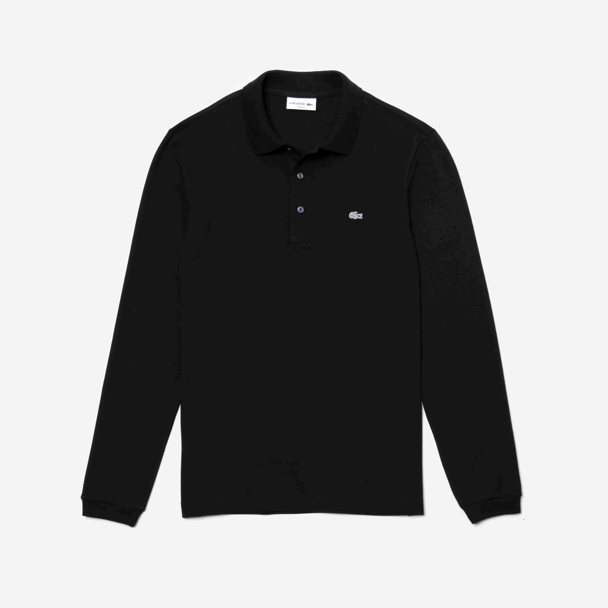 LACOSTE Slim Fit Herren-Poloshirt aus Mini-Piqué mit Stretch
