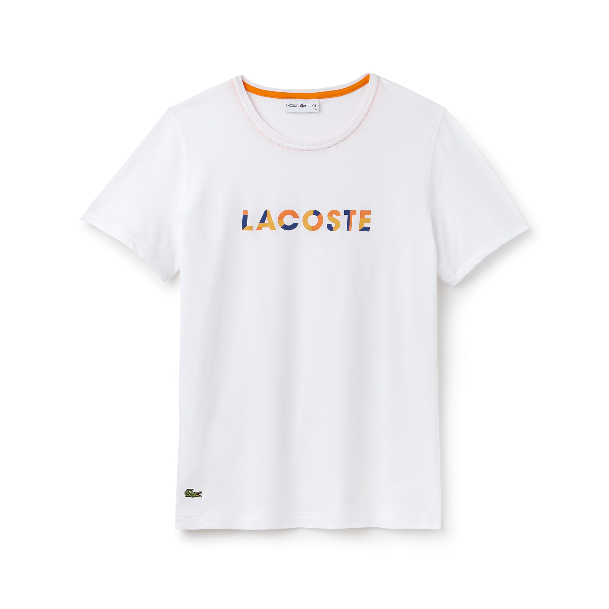 Damen LACOSTE SPORT Rundhals Tennis T-Shirt aus Jersey mit Logo