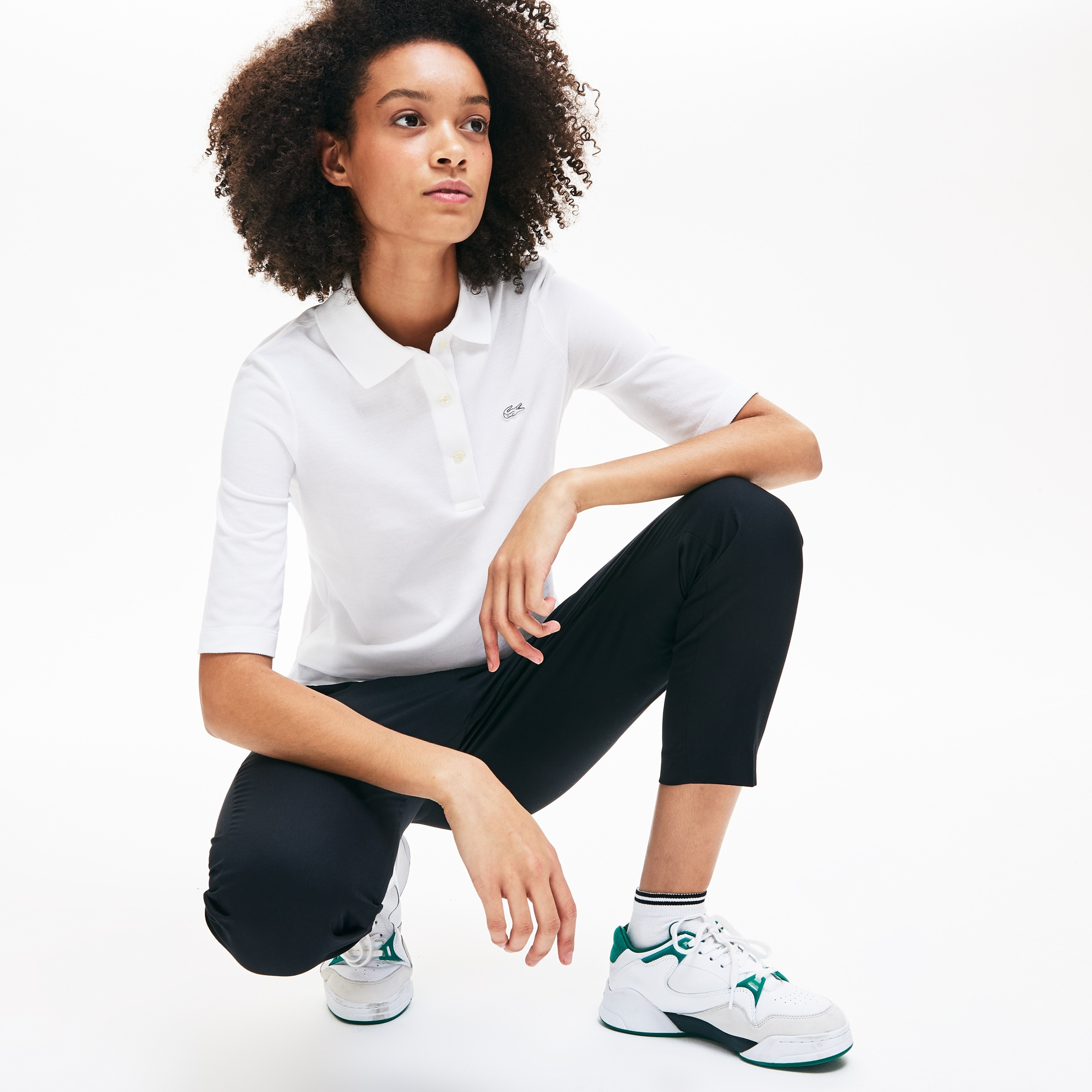 Classic Fit Damen-Poloshirt aus Petit Piqué LACOSTE