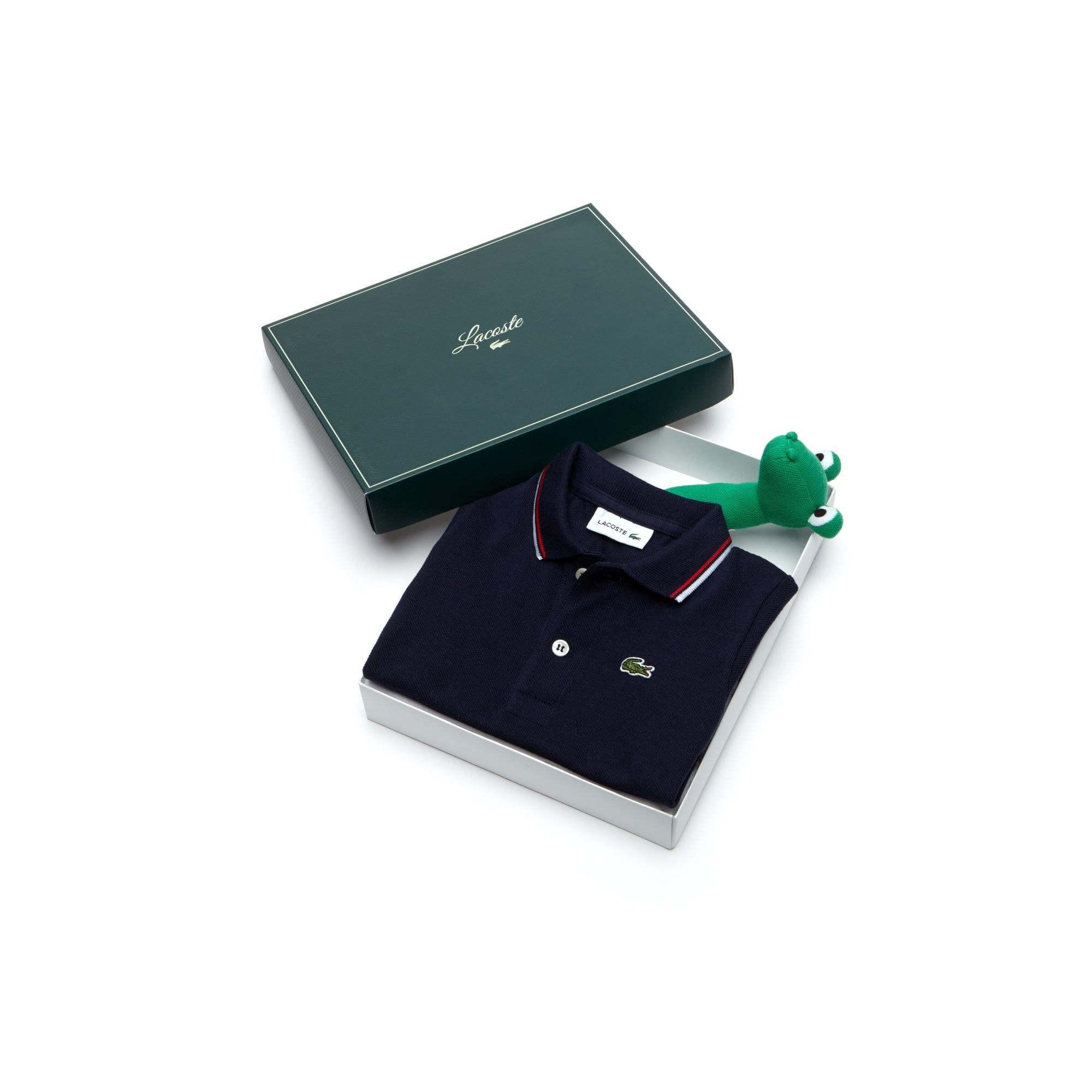 Geschenkset Doppellagiges Poloshirt aus Petit Piqué