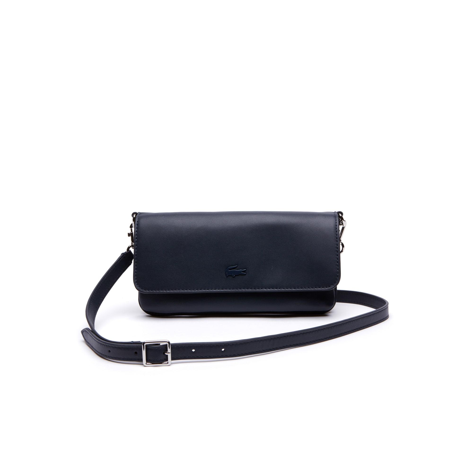 Einfarbige 6 Karten Damen-Brieftasche Purity Soft aus Leder