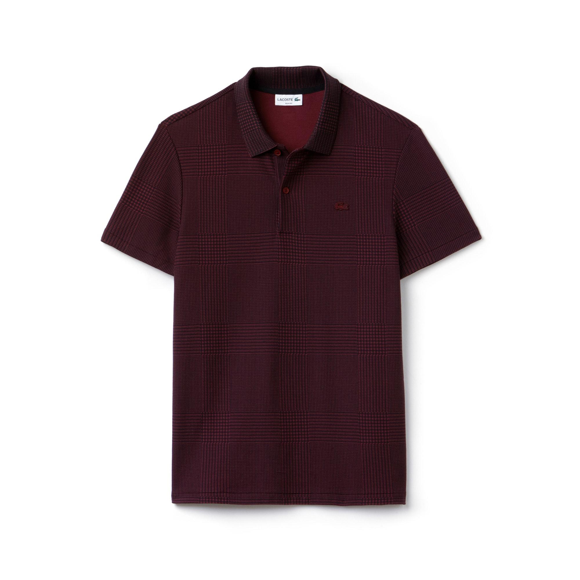 Slim Fit Herren-Poloshirt aus zweifarbigem Baumwoll-Piqué LACOSTE