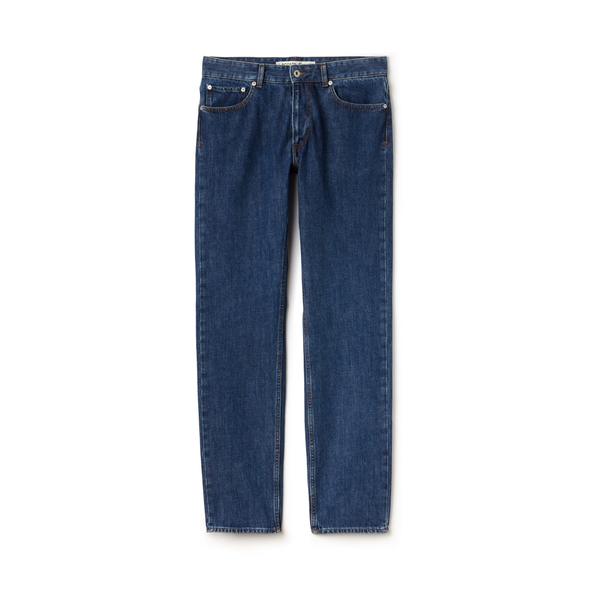 Herren-Jeans aus Baumwolle in geradem Schnitt mit fünf Taschen