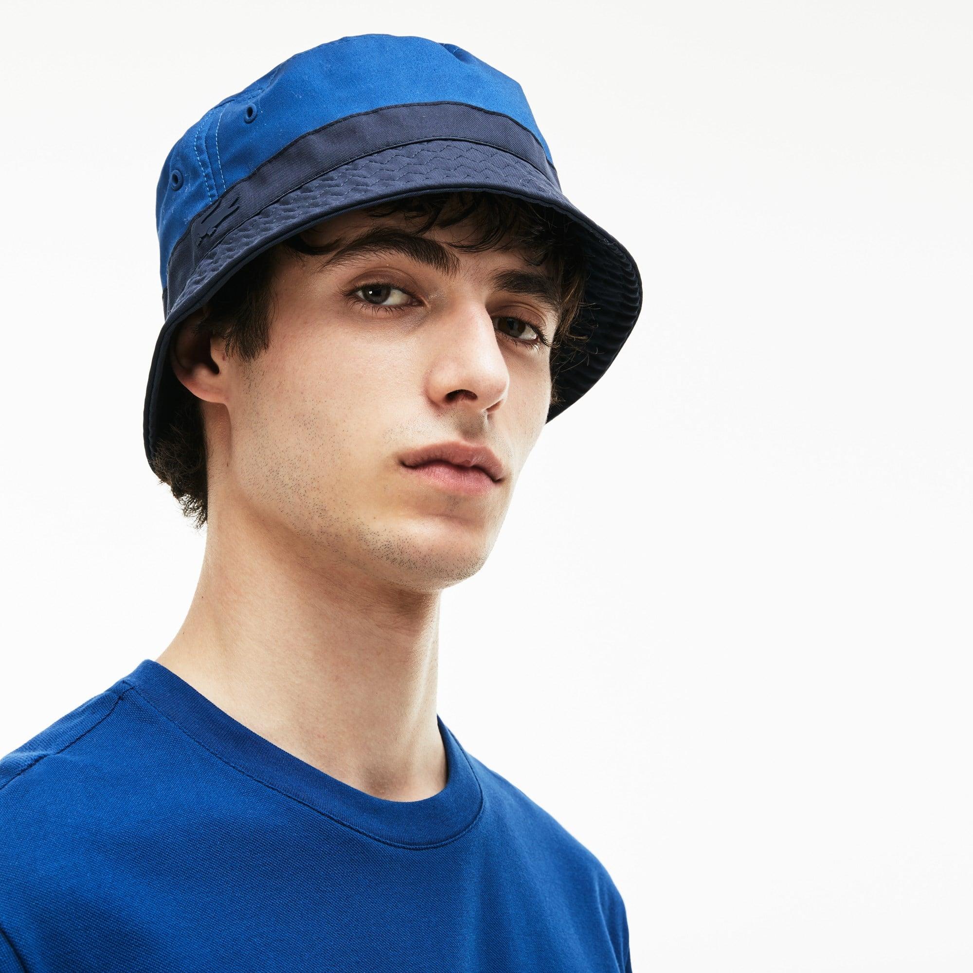 Herren-Hut aus zweifarbigem Stretch-Twill