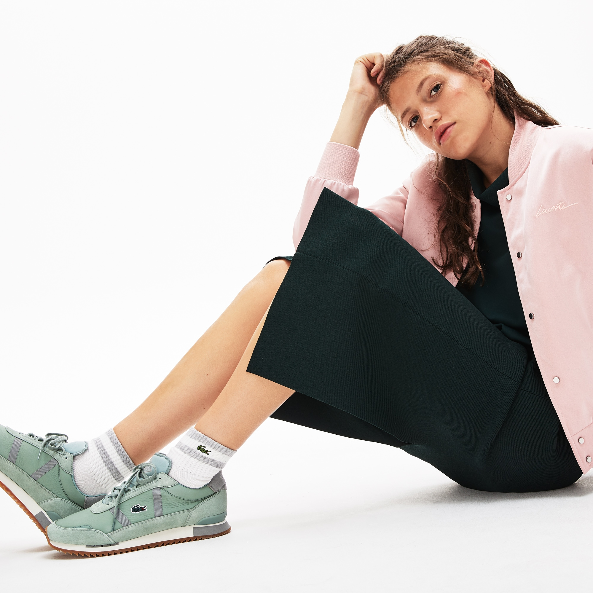 Damen-Sneakers PARTNER RETRO aus Leder und Veloursleder