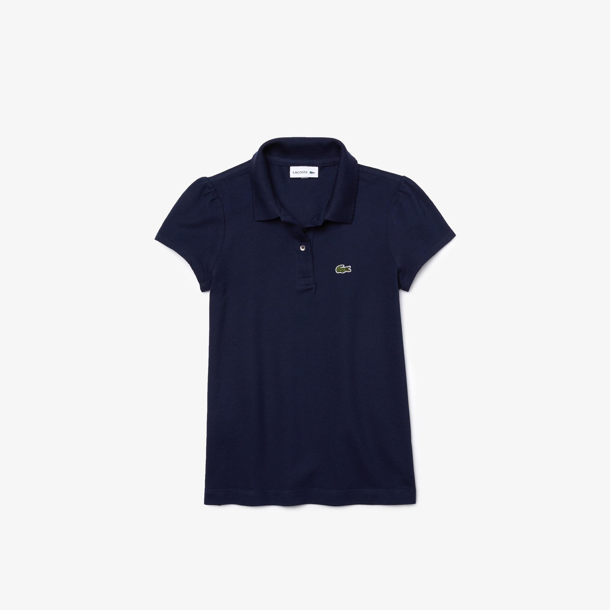 LACOSTE Mädchen-Poloshirt aus Mini-Piqué mit verspieltem Kragen