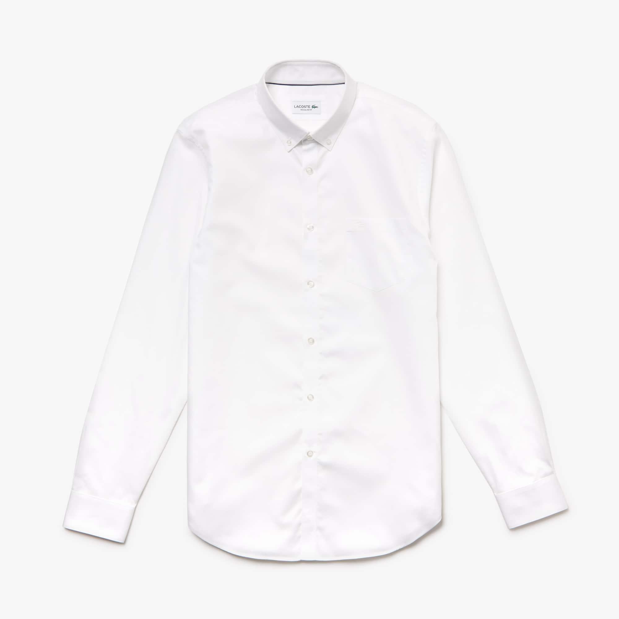 Regular Fit Herren-Hemd aus Baumwoll-Mini-Piqué