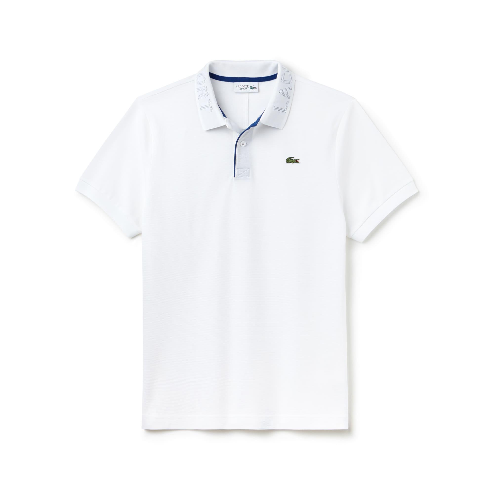 Herren LACOSTE SPORT Tennis Poloshirt mit bedrucktem Kragen