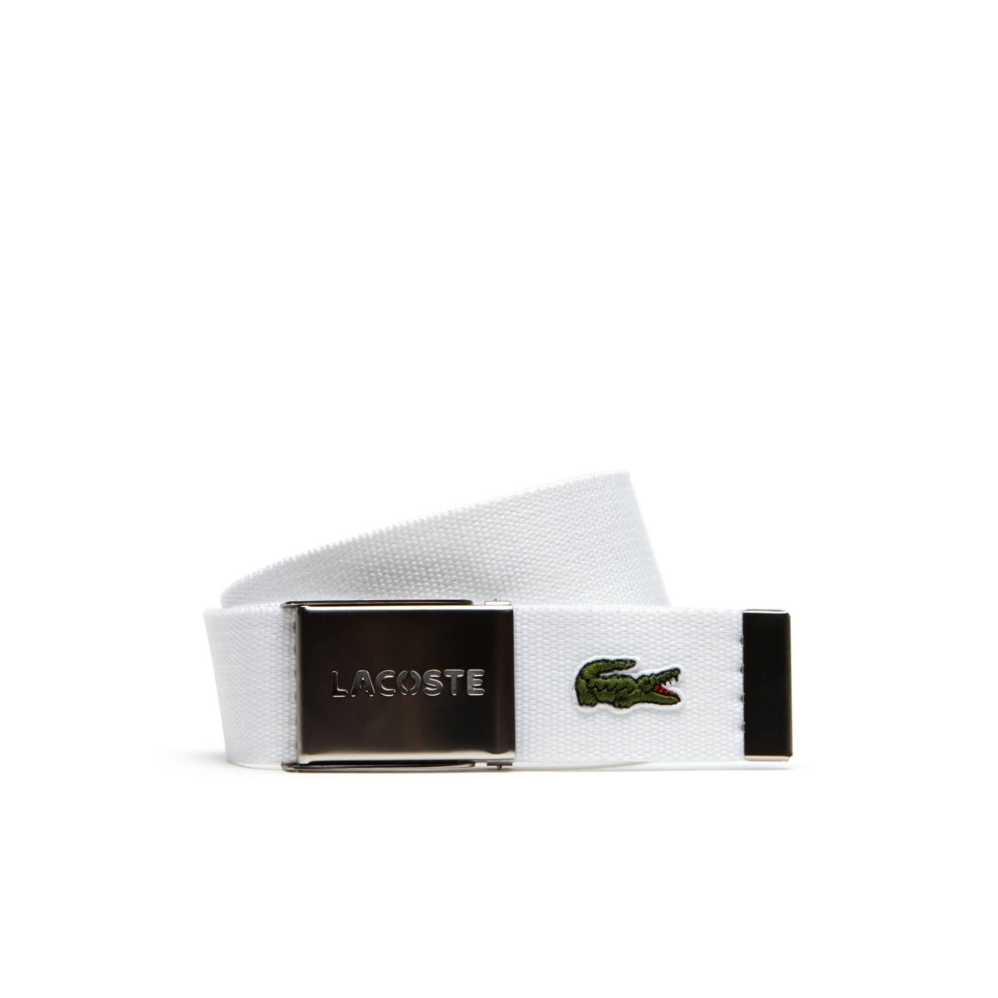 Canvas-Gürtel mit gestanzter Lacoste-Schnalle