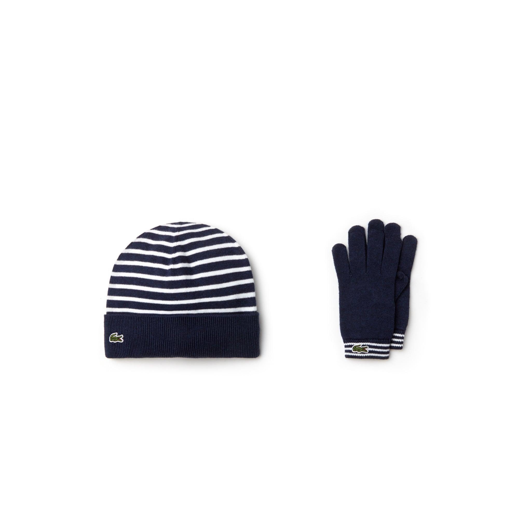 Jungen-Handschuhe und Mütze aus Kaschmir-Baumwolljersey