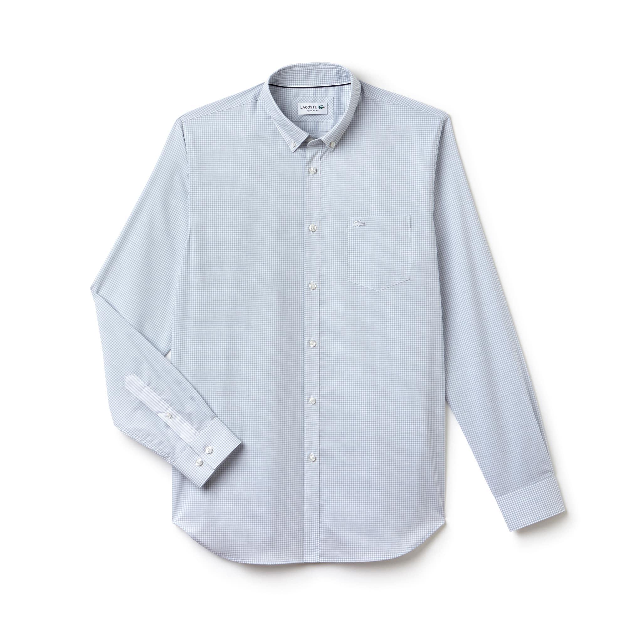 Regular Fit Herren-Hemd mit Karomuster