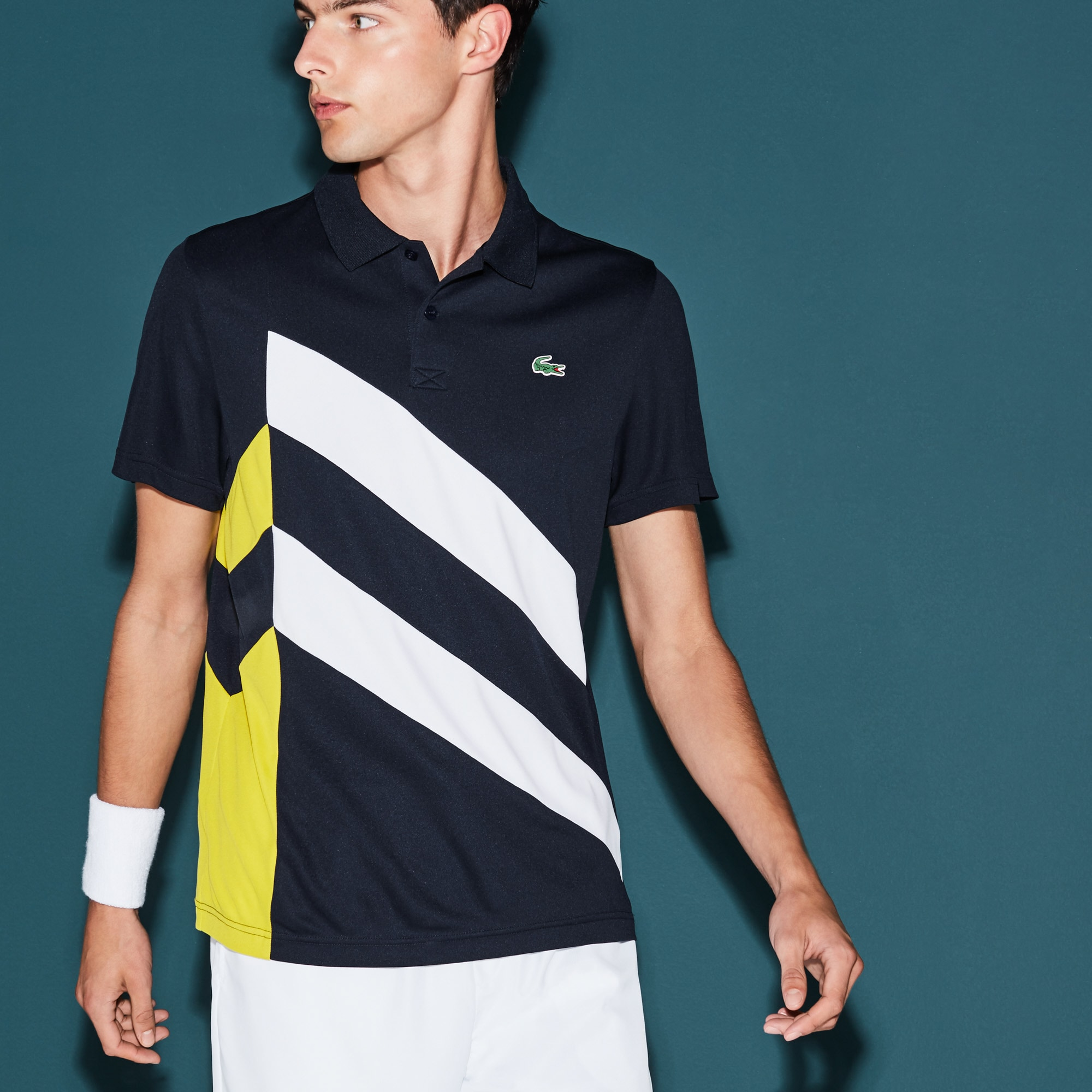Herren-Funktions-Polo mit Colorblockband LACOSTE SPORT TENNIS