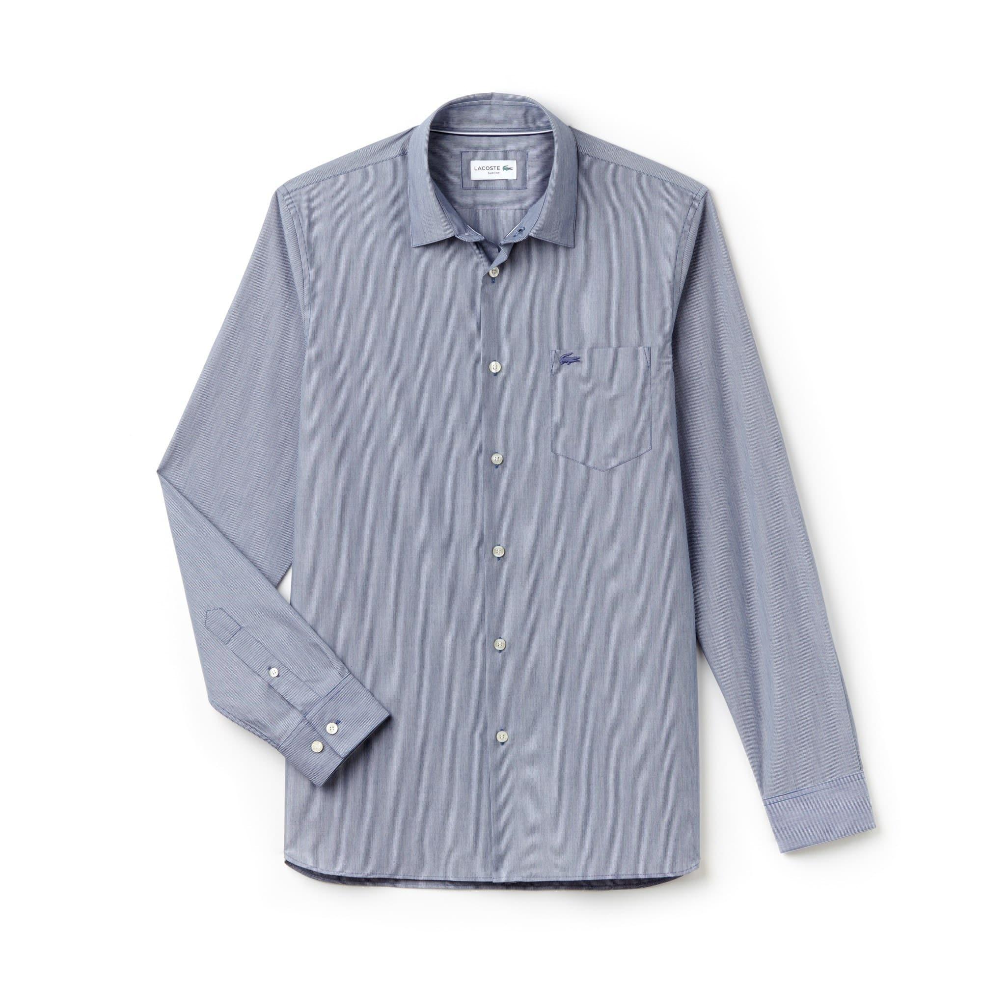 Slim Fit Herren-Hemd aus Baumwoll-Popeline