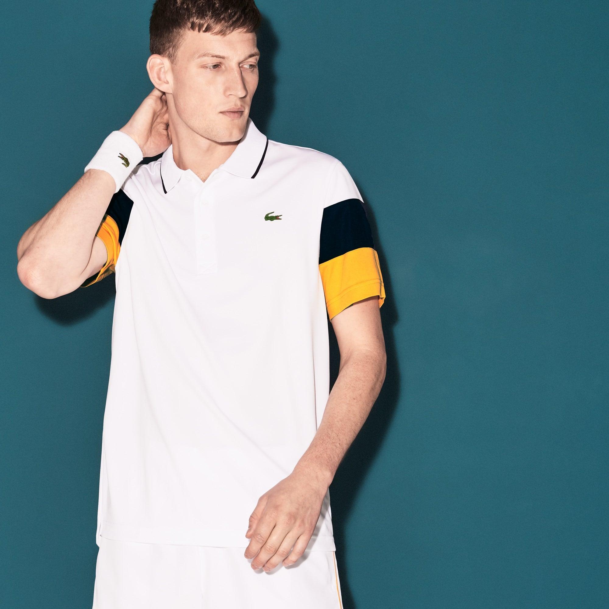 Herren LACOSTE SPORT Poloshirt mit Colorblock Ärmeln