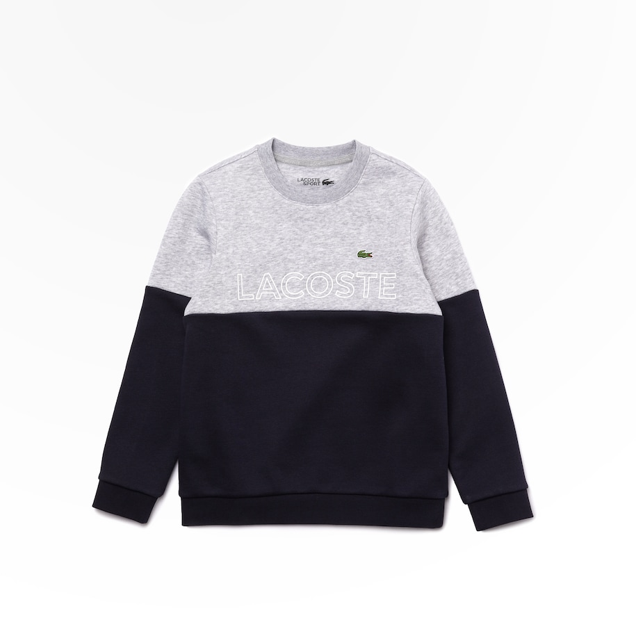Jungen LACOSTE SPORT Fleece-Sweatshirt mit Colourblock